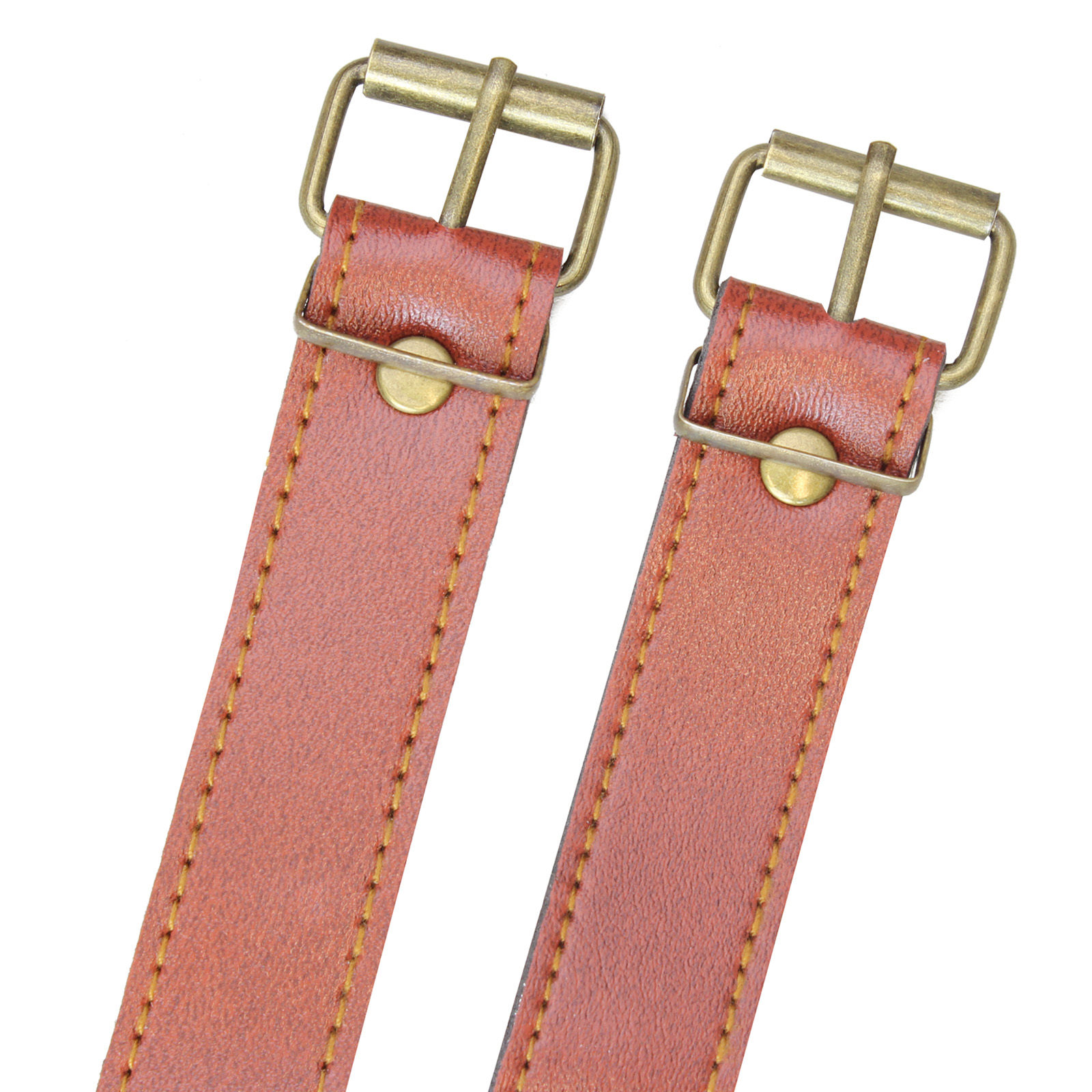 LIGHT BROWN UTILITY STRAP PU LEATHER 9.5 INCH BRASS BUCKLE//BICYCLE//BASKET//25MM