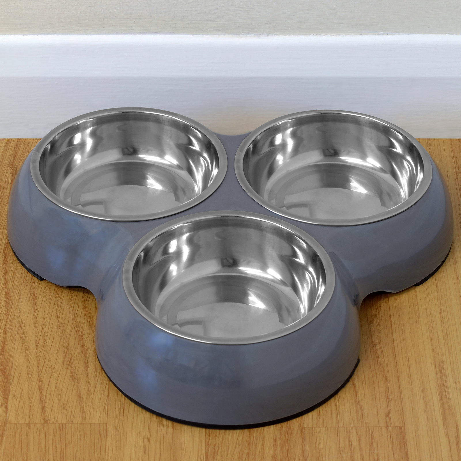 supplies feeder product dish free triple overstock bowl today steel shipping polywood pet dog