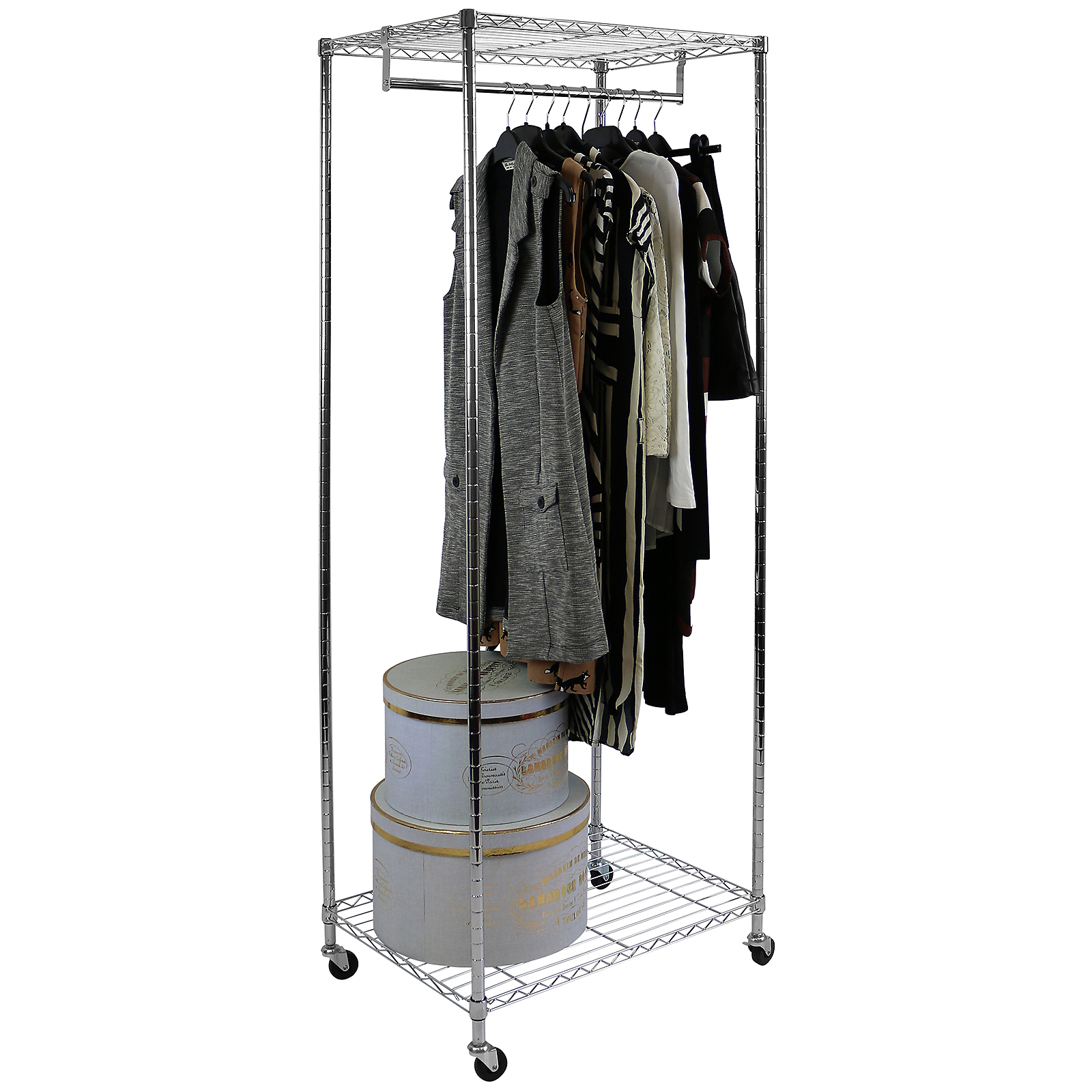 hanging image illustration closet rack vector wardrobe clothes display stock