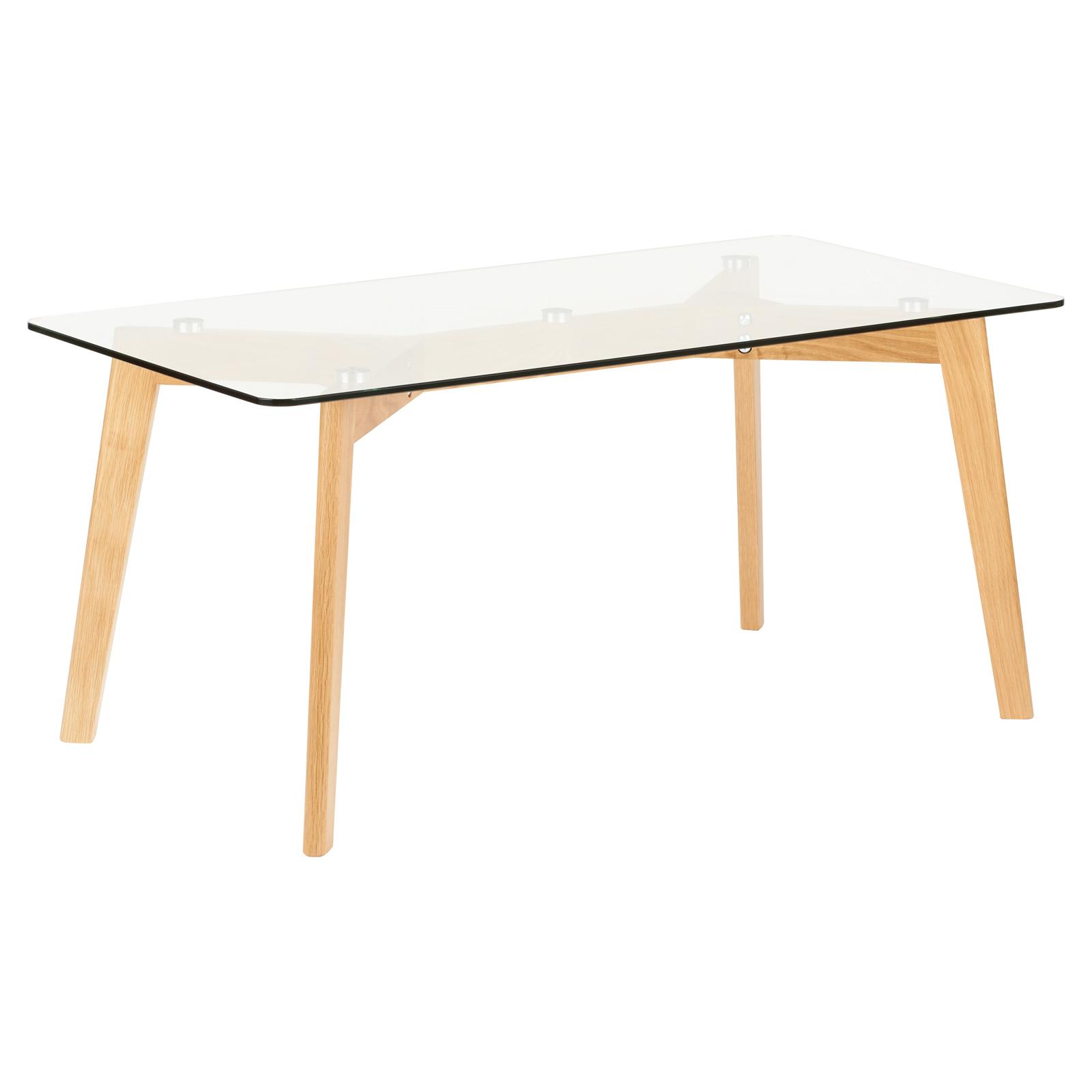 Ebay Oak And Glass Coffee Table: HARTLEYS SOLID OAK & GLASS RECTANGULAR MODERN WOOD SIDE