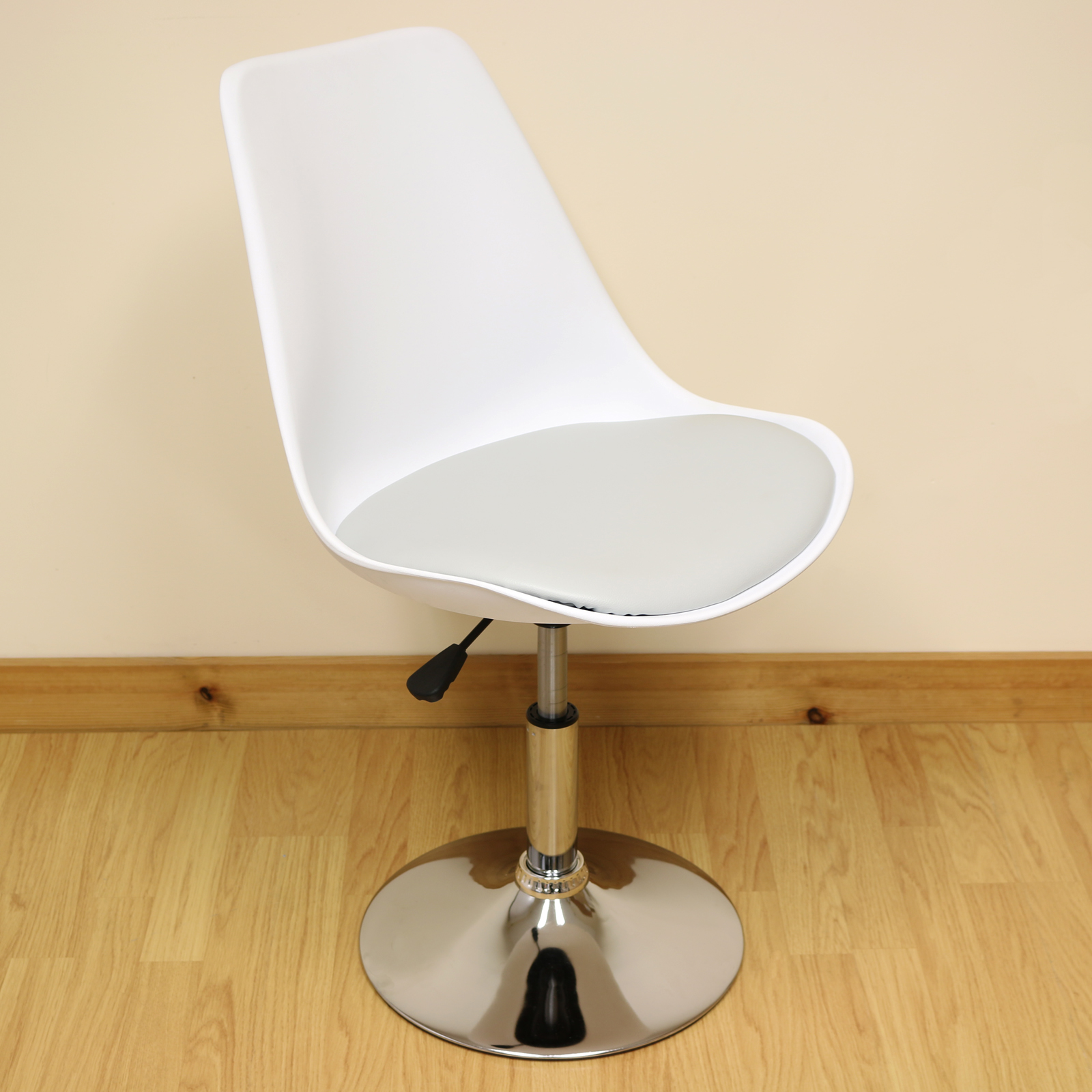 c4634c816a52 Sentinel White & Grey Adjustable Swivel Desk Chair Home/Office Comfy  Computer/PC Seat
