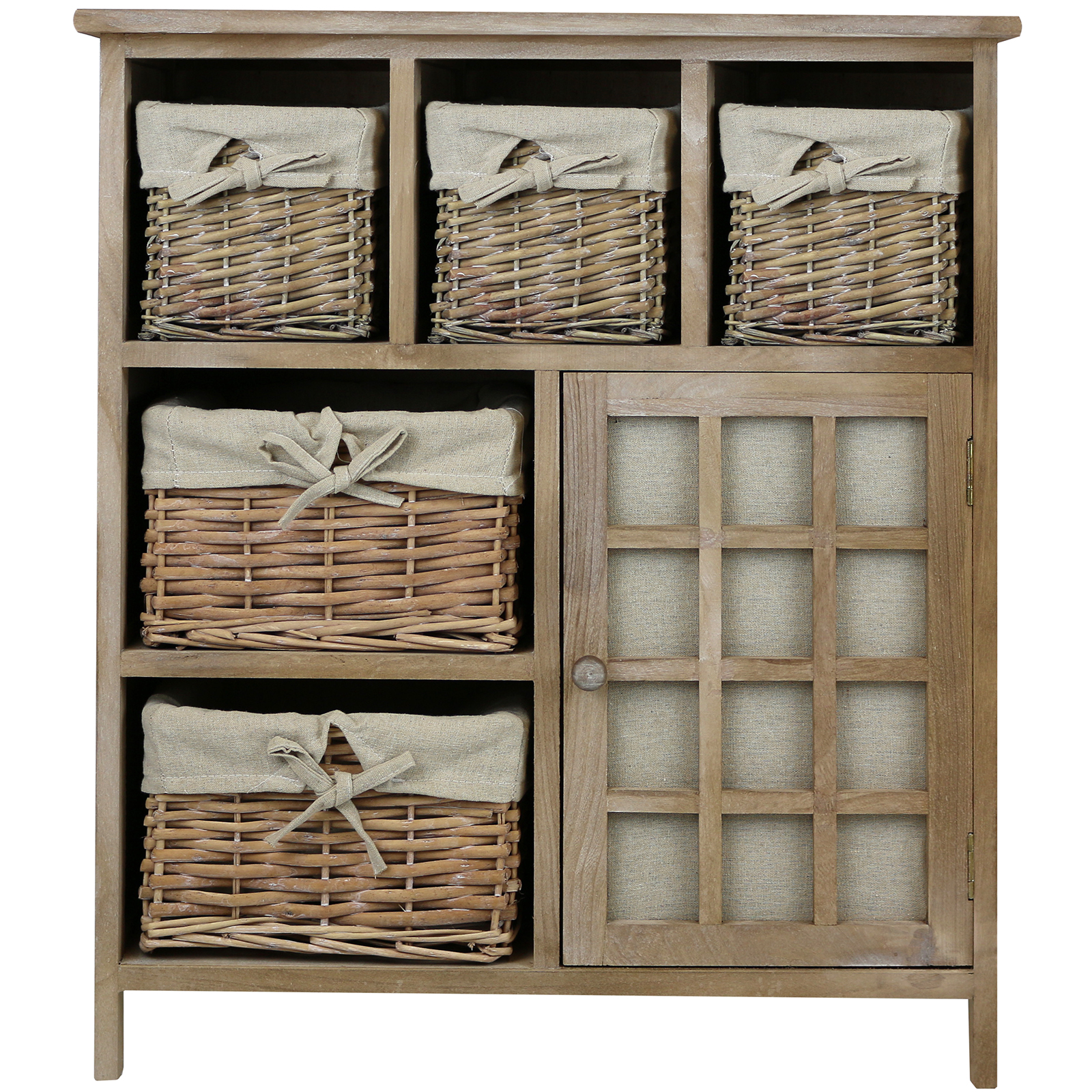 Delicieux Sentinel HARTLEYS BROWN 5 DRAWER WICKER BASKET STORAGE UNIT SHABBY CHIC  DRESSER/SIDEBOARD