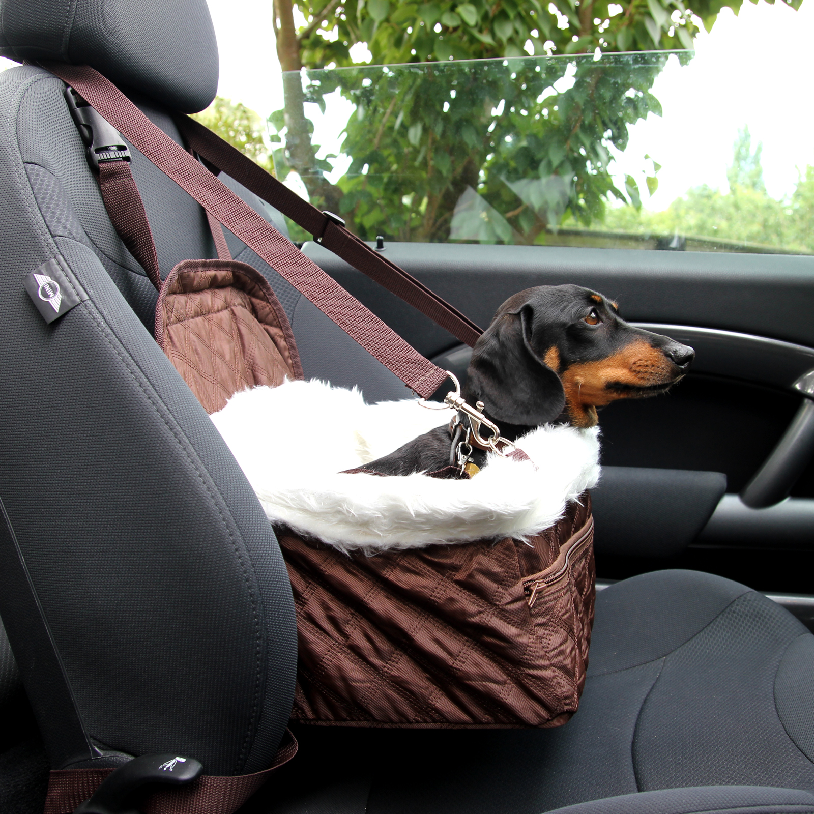Sentinel Pet Car Carrier Bed With Safety Belt For Dog Cat Puppy Travel Bag Booster