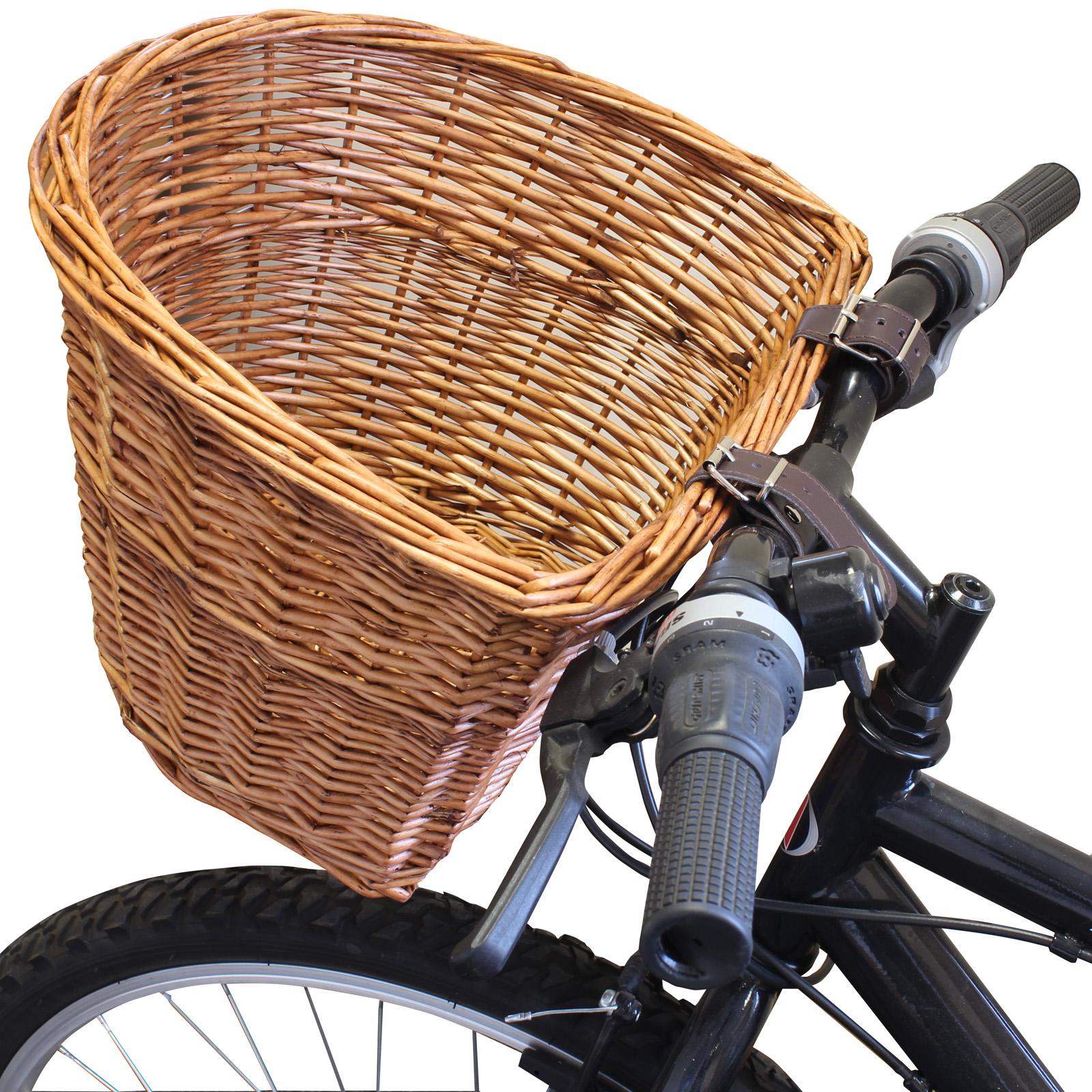 Practical Bike Basket Bicycle Cycle Front Bike Basket Shopping Holder Canvas