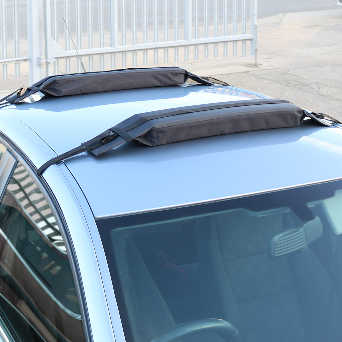 Kayak Roof Rack For Cars >> PAIR OF UNIVERSAL SOFT/PADDED CAR ROOF BARS LUGGAGE/KAYAK/SURFBOARD RACK/CARRIER 5051990719941 ...