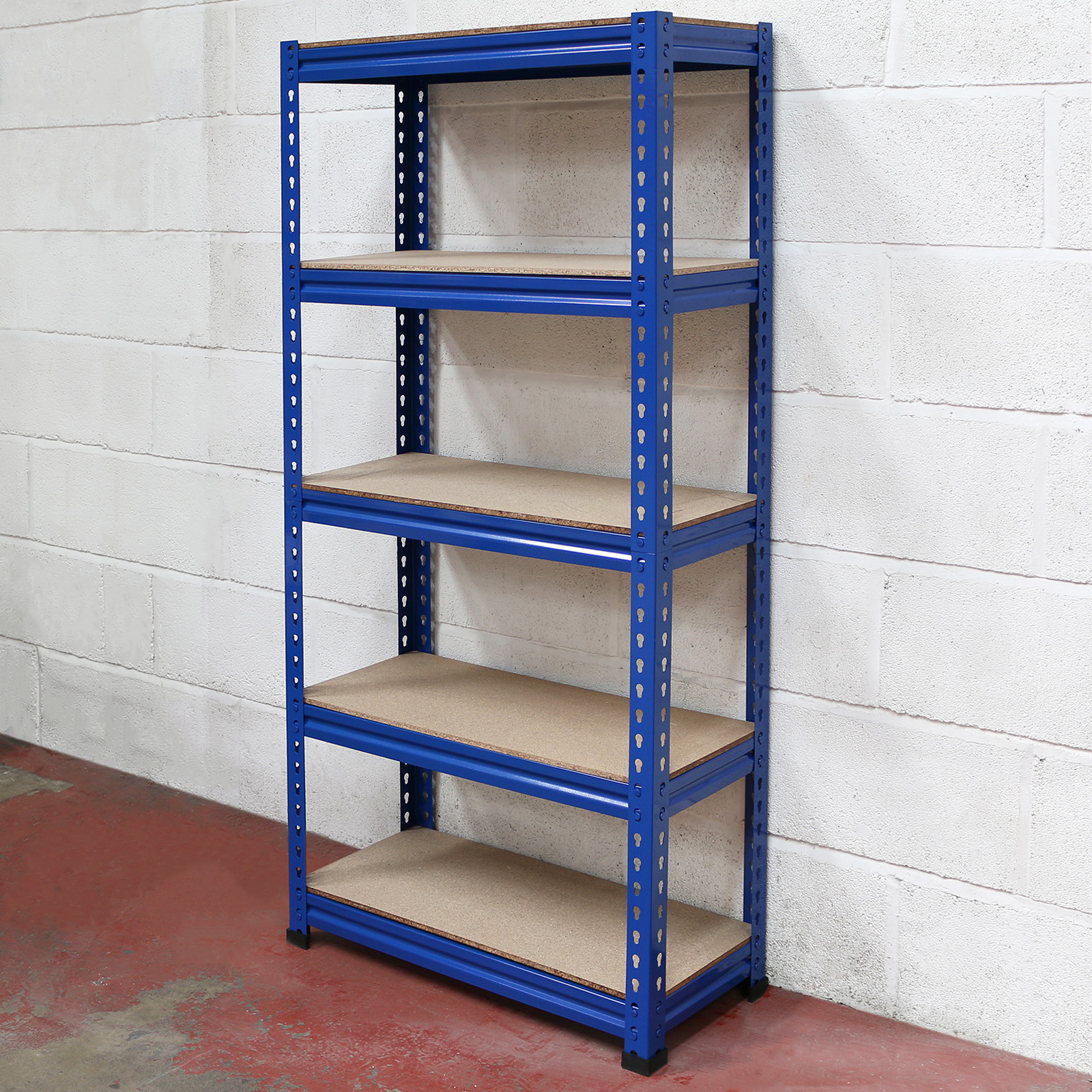 5 Tier Blue Heavy Duty Boltless Metal Storage Shelves