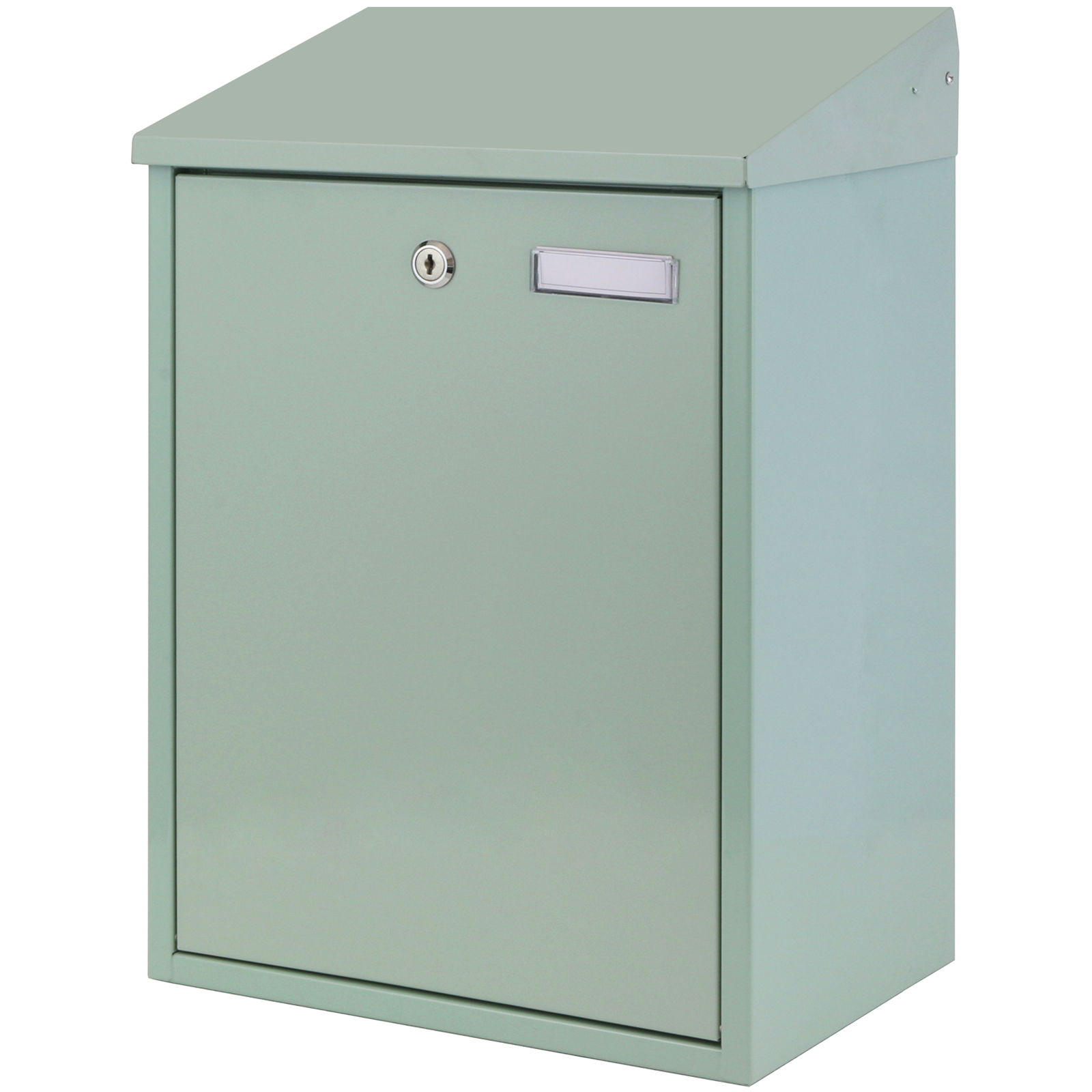 Large Green Lockable Outdoor Mailbox Postbox Letter Mail