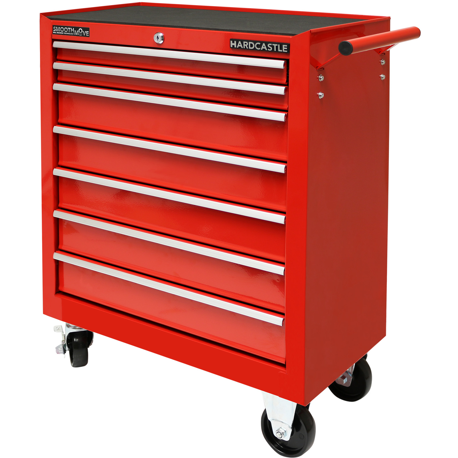 Damaged Kitchen Cabinets For Sale: RED METAL 7 DRAWER LOCKABLE TOOL CHEST/ROLLER