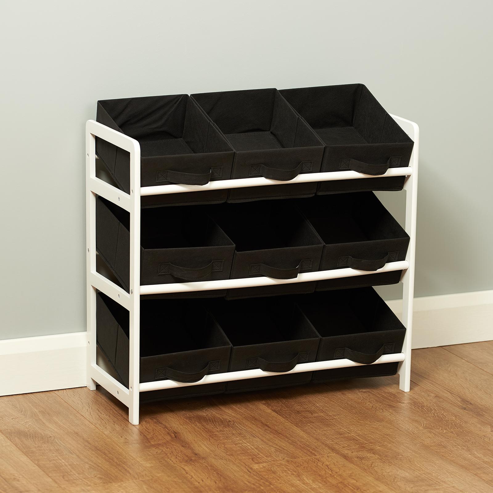 Childrens Kids 3 Tier Toy Bedroom Storage Shelf Unit 8: Hartleys 3 Tier Storage Shelf Unit Kids Childrens Bedroom