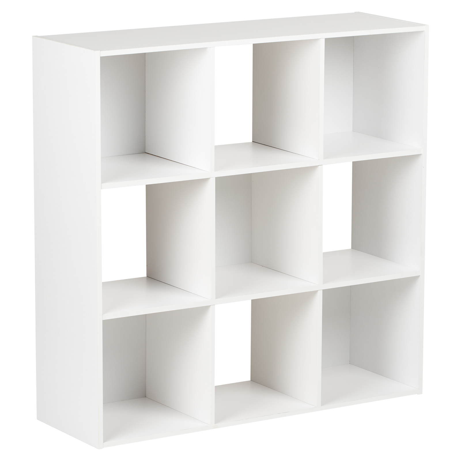 Hartleys White 9 Cube Modular Square Storage Shelving 3