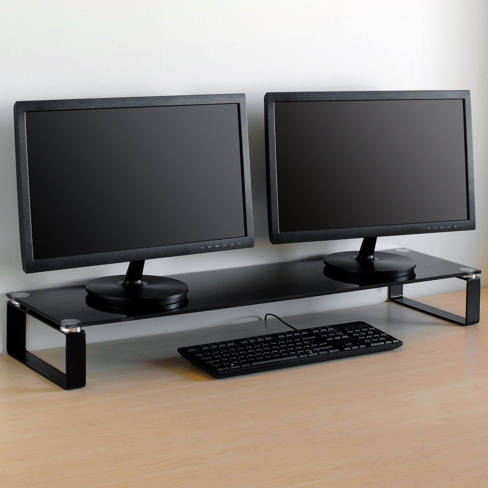 X Large Double Twin Monitor Riser Stand Pc Imac Screen Tv