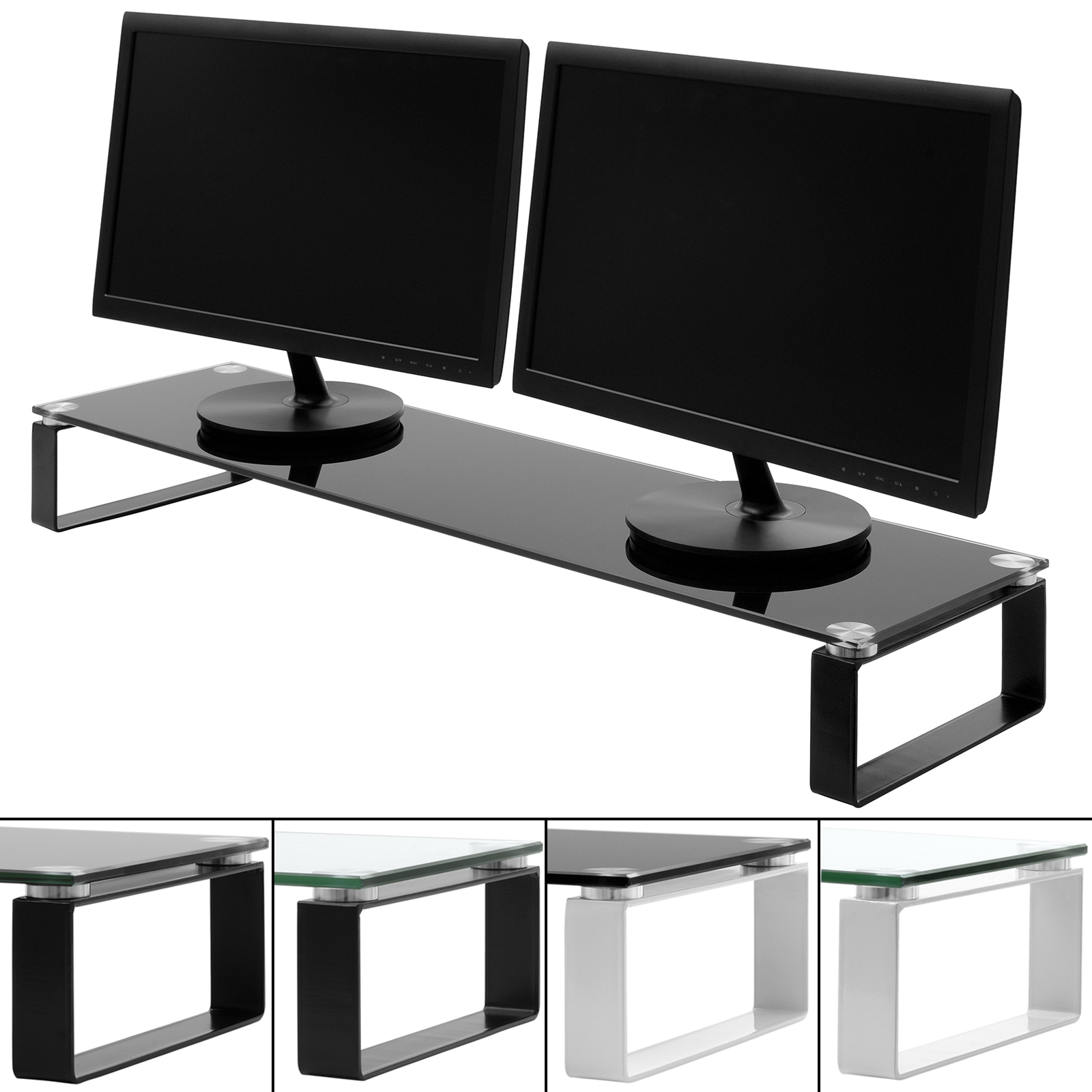X Large Double Monitor Screen Riser Block Shelf Computer