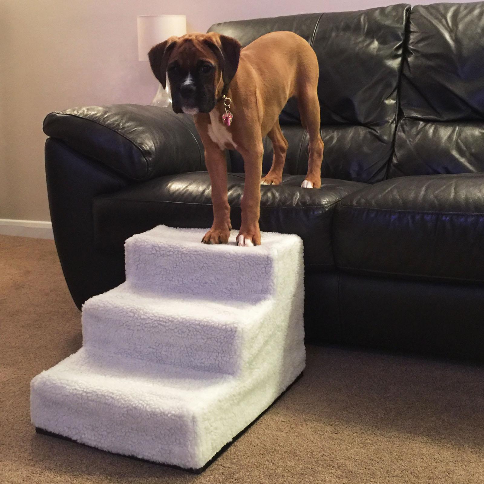 Pet Ramp For Car >> ME & MY BLACK EASY CLIMB PLASTIC PET STAIRS DOG/CAT STEP ...