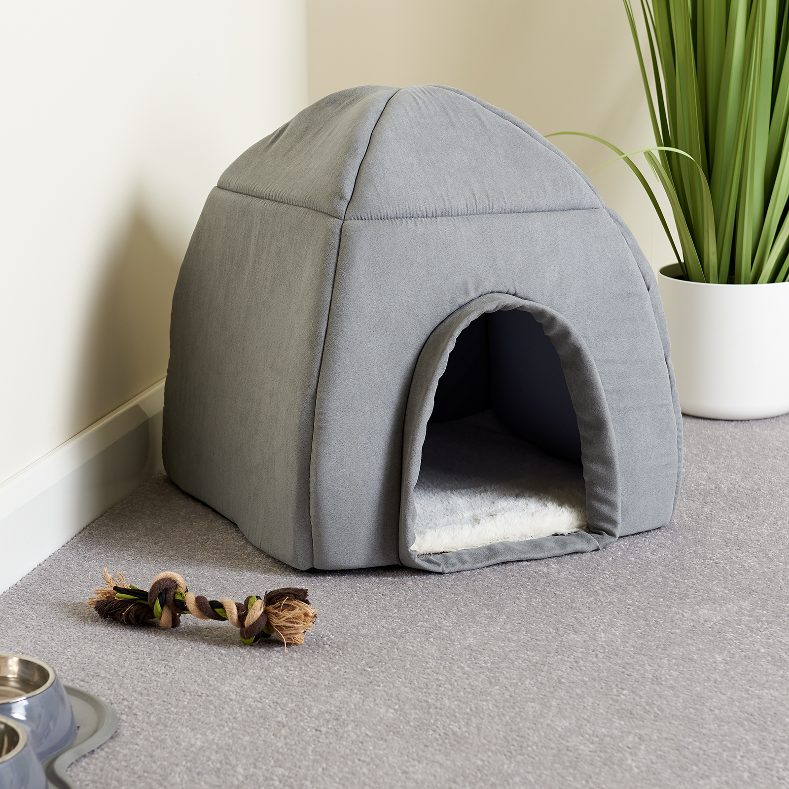 Me Amp My Super Soft Large Grey Cat Dog Igloo Pet Bed Warm