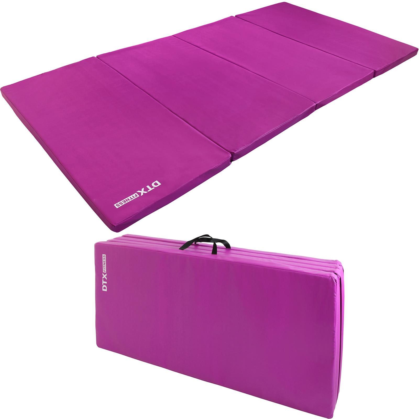 Dtx Fitness Purple Folding Large Exercise Floor Mat Yoga Pilate