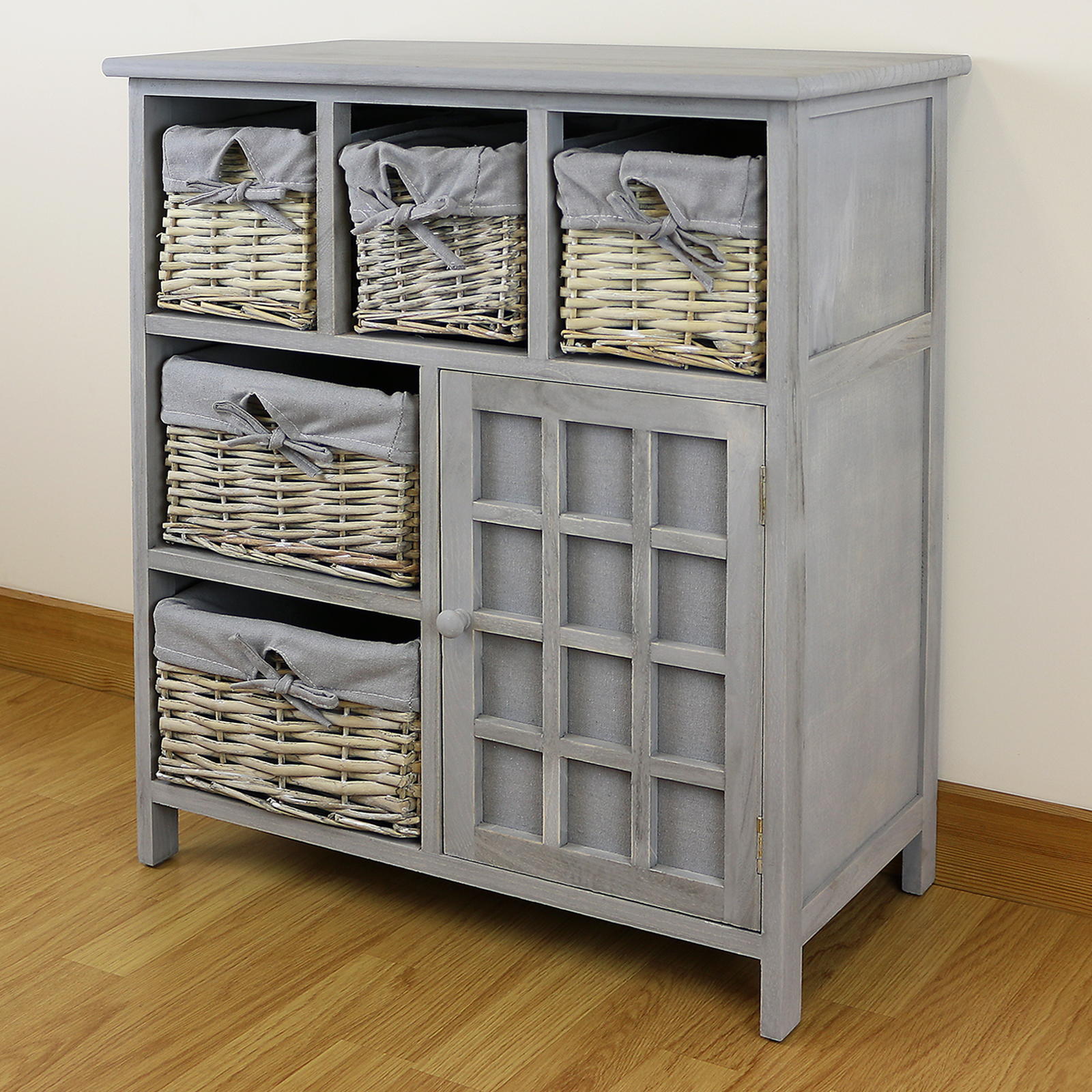 grey 5 drawer hallway bedroom storage unit farmhouse 19923 | fur 2043 20c