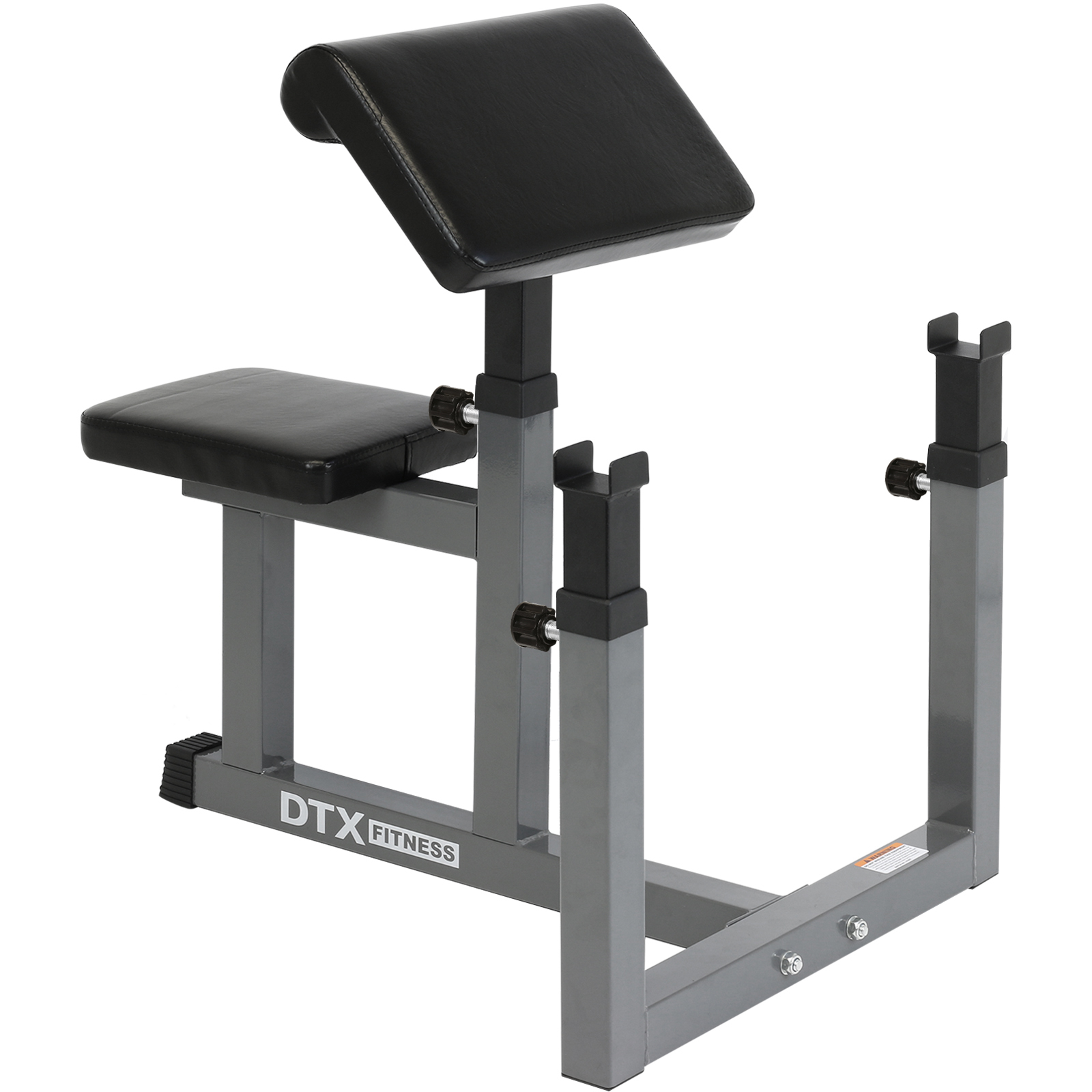 dtx fitness preacher arm curl barbell weight bench bicep