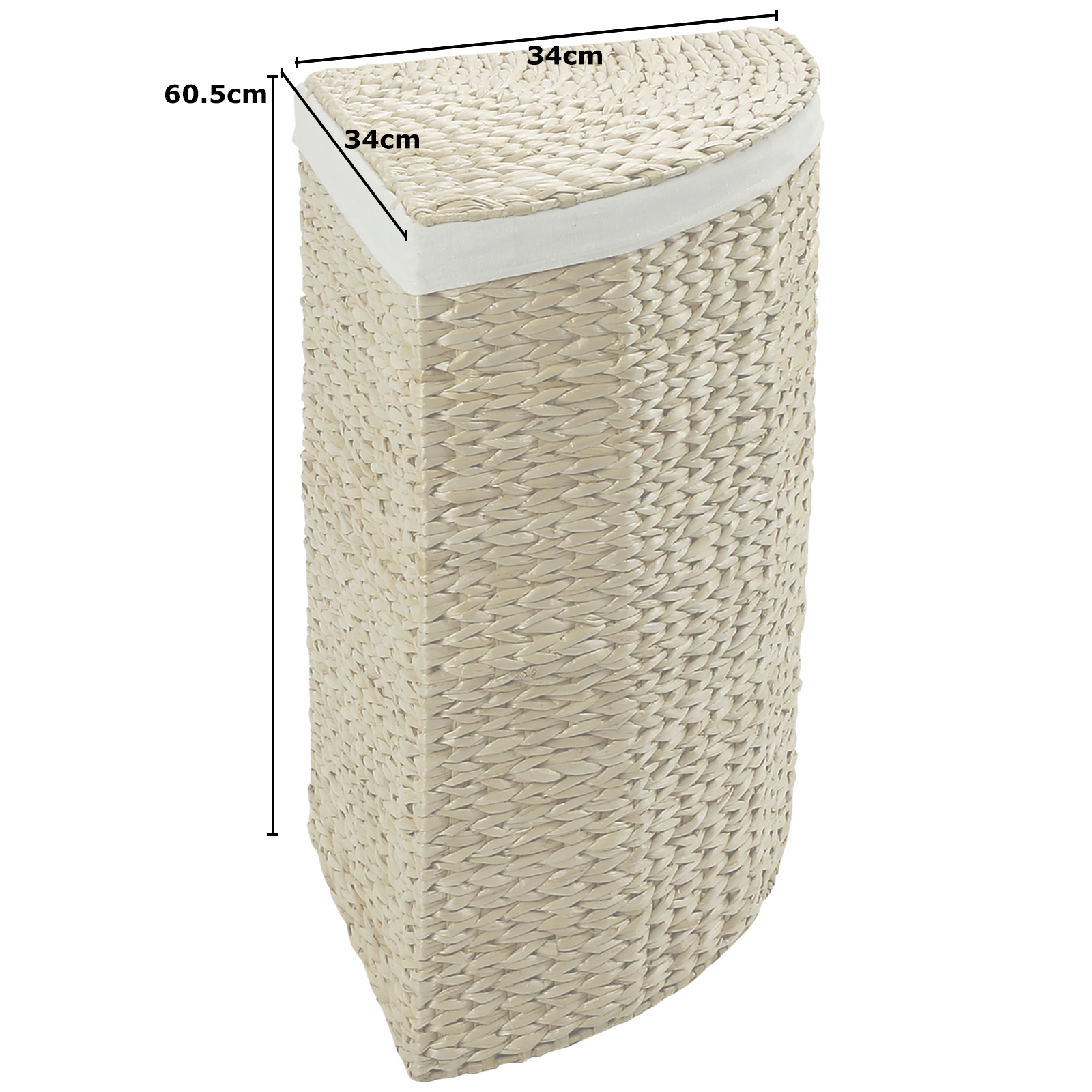 Hartleys Corner Laundry Basket Hamper Compact Wicker Large
