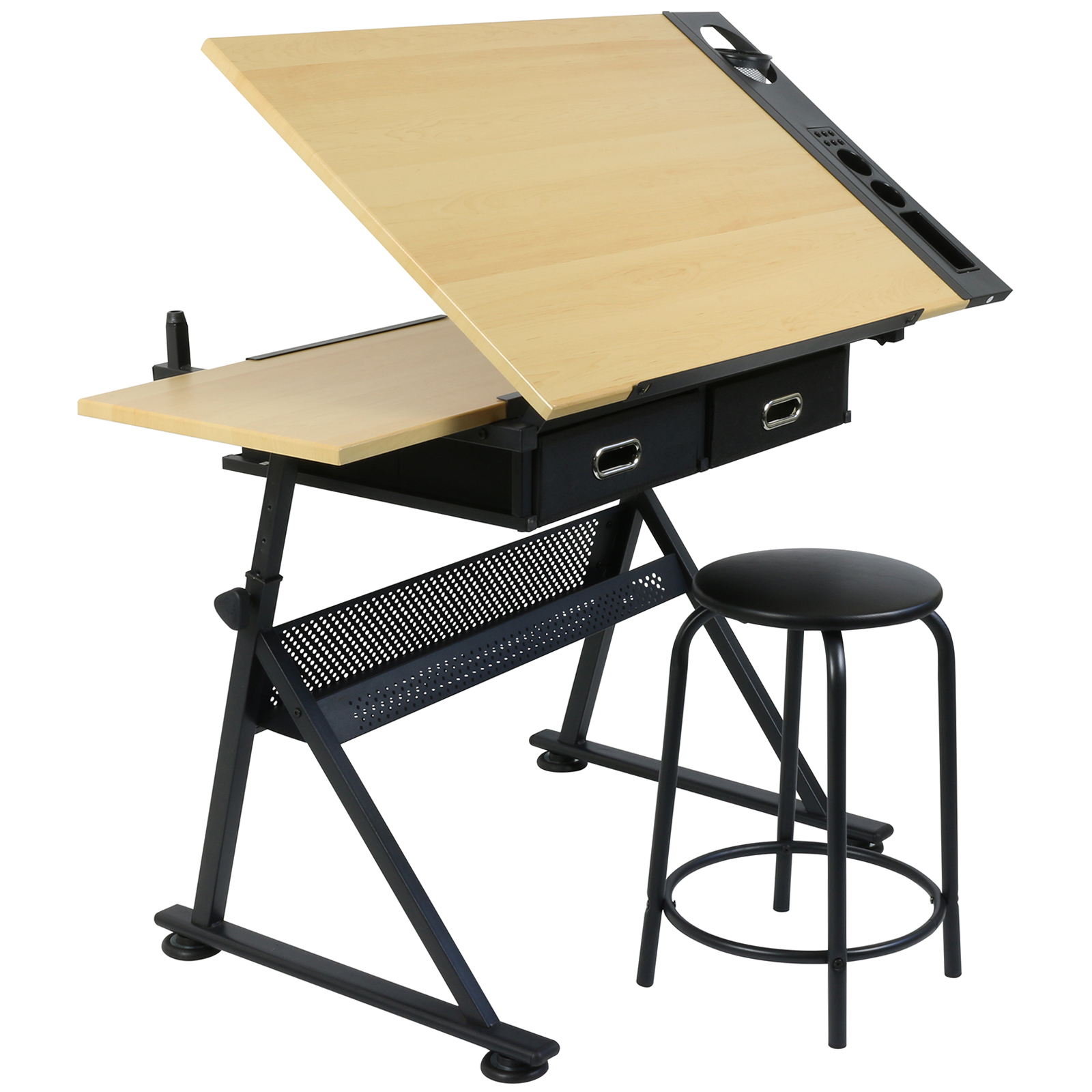 Hartleys Drawing Table With 2 Drawers Drafting Bench