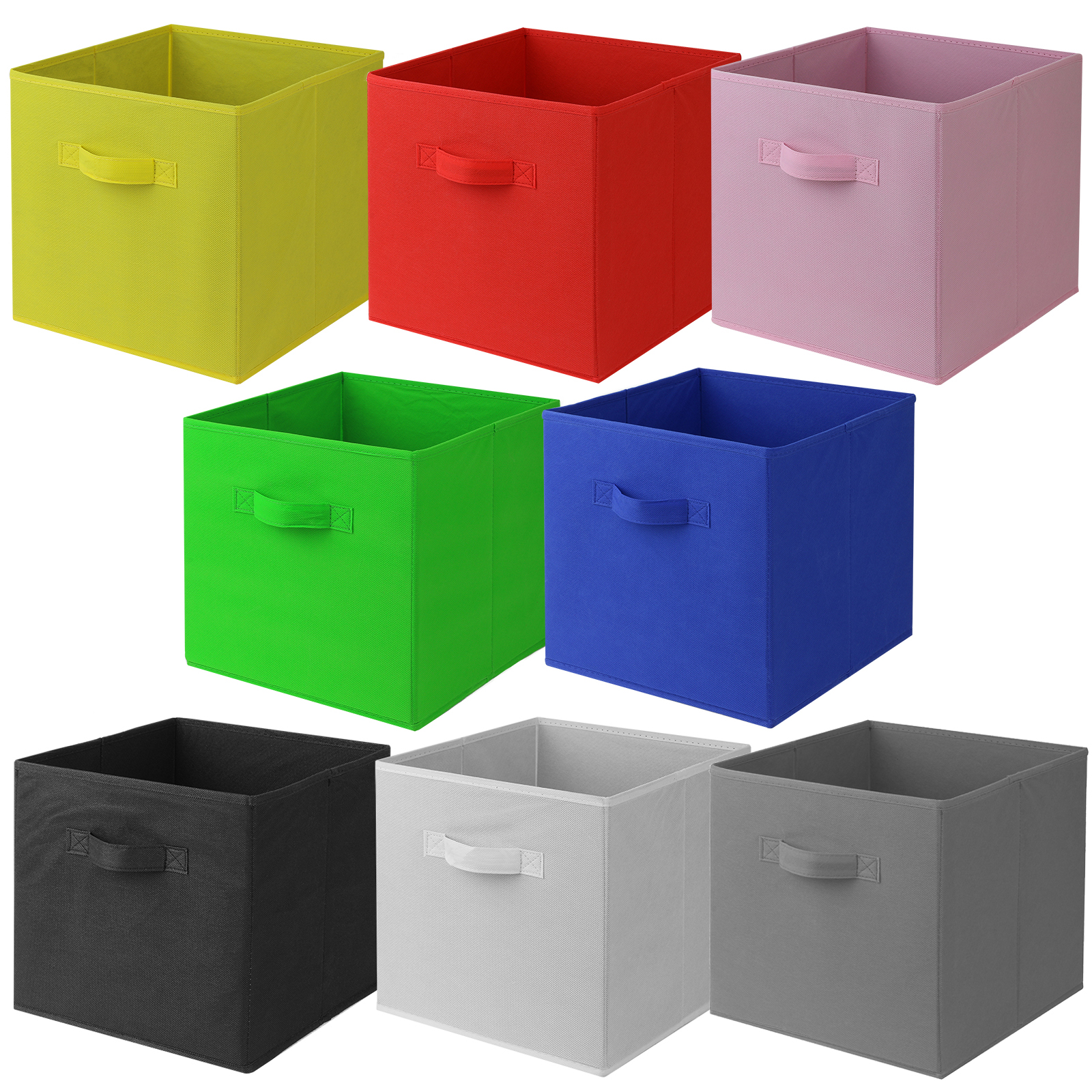 Hartleys Square Foldable Fabric Canvas Storage Box Tidy