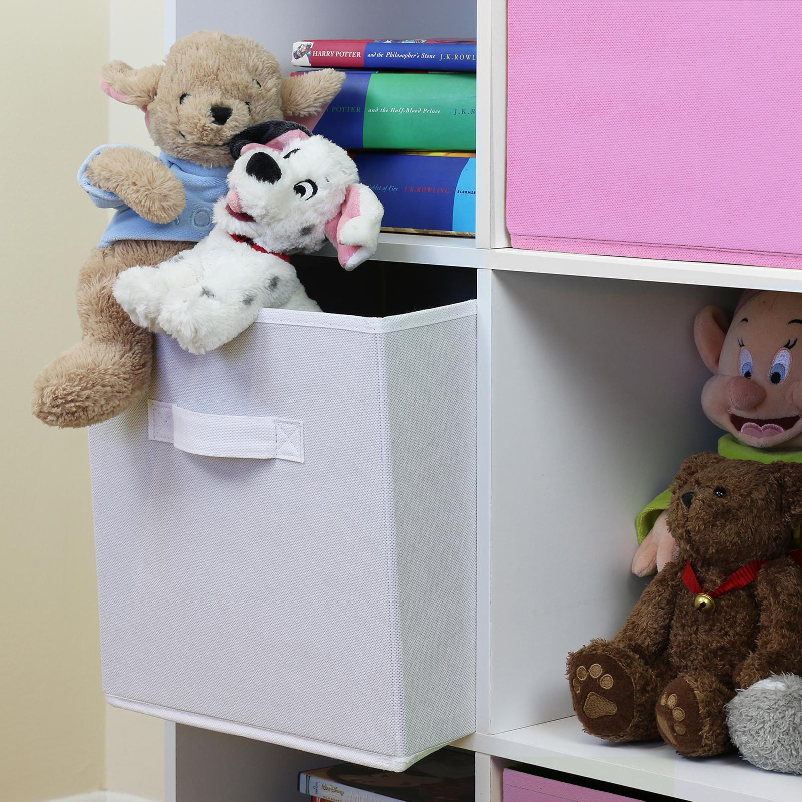 6 Cube Kids White Toy Games Storage Unit Girls Boys Childs: 9 Cube Kids Pink & White Toy/Games Storage Unit Girls/Boys