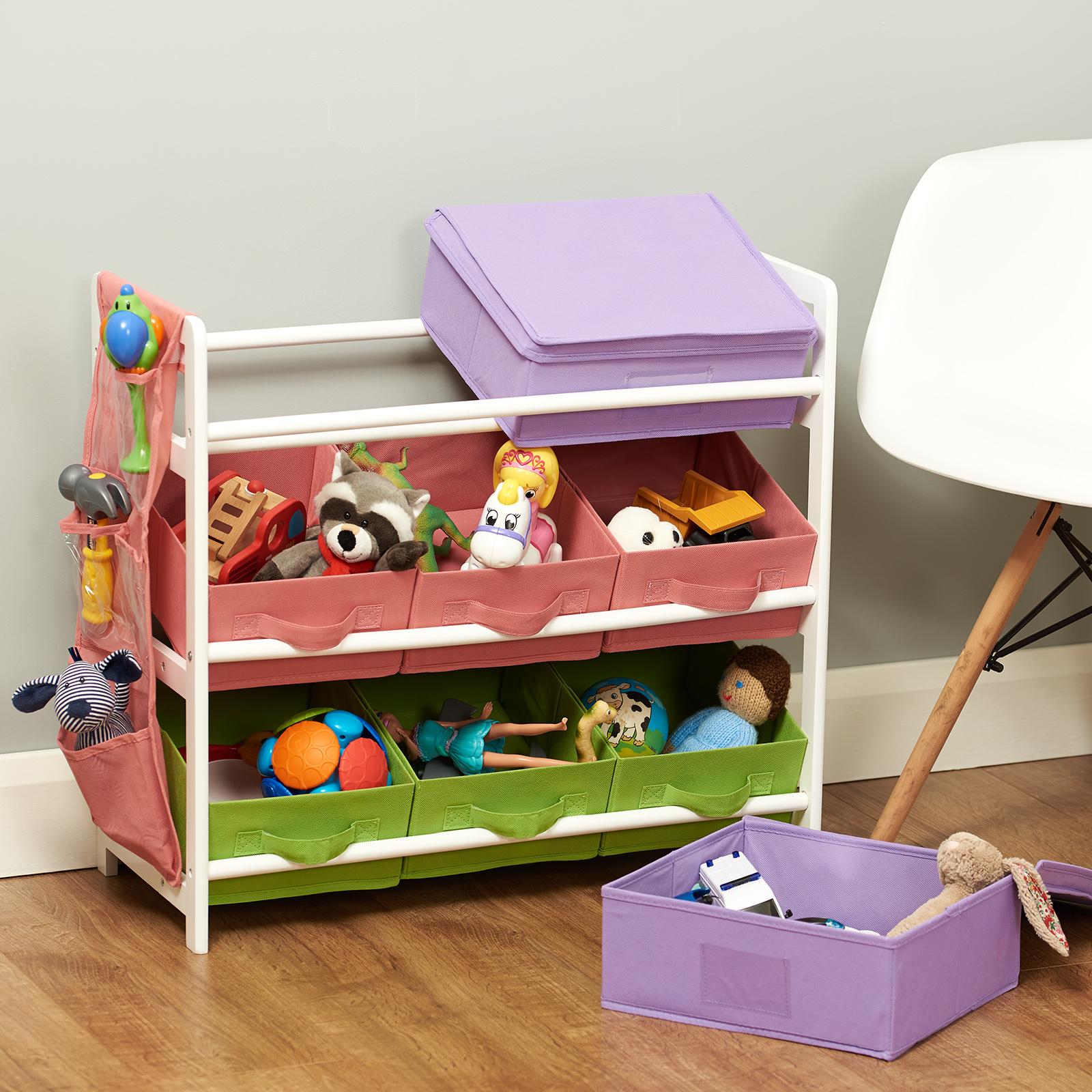 Kids Storage Cube Organizer Toy Box Kids Bedroom Furniture: Hartleys Childrens Bedroom Fun Shelf Drawers Kids Toy/Book