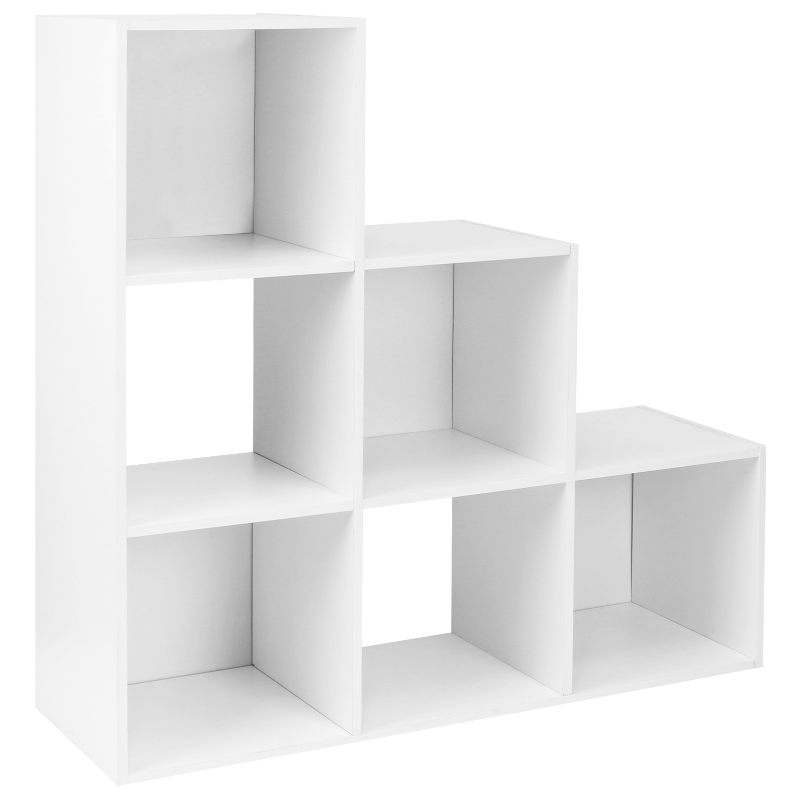 Charmant Sentinel HARTLEYS WHITE 6 CUBE MODULAR SQUARE STORAGE/SHELVING 3 TIER SHELF  DISPLAY UNIT