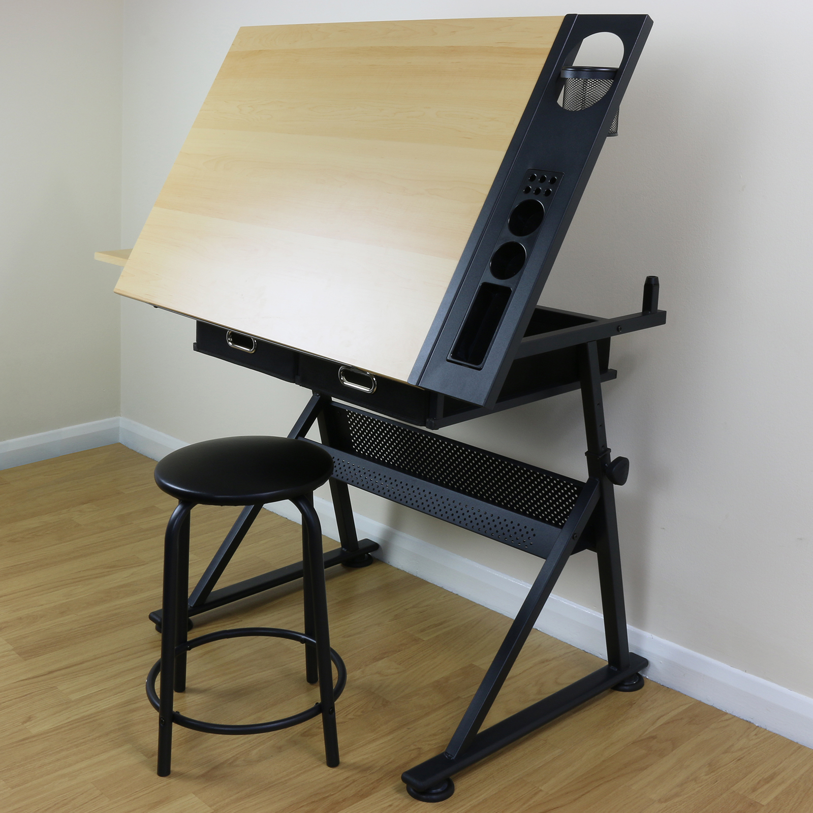 Adjustable Drawing Board Drafting Table With Stool Craft