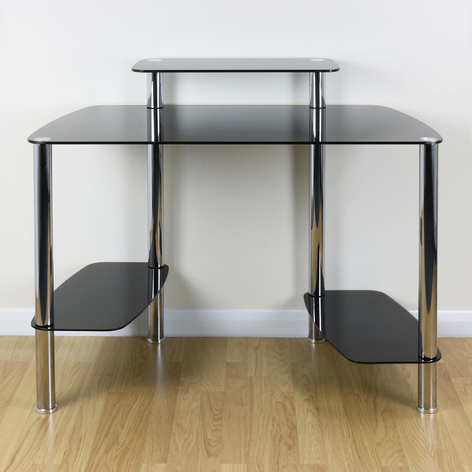 Sentinel Large Black Gl Office Computer Pc Desk Stand Cpu Tower Shelf Monitor Riser