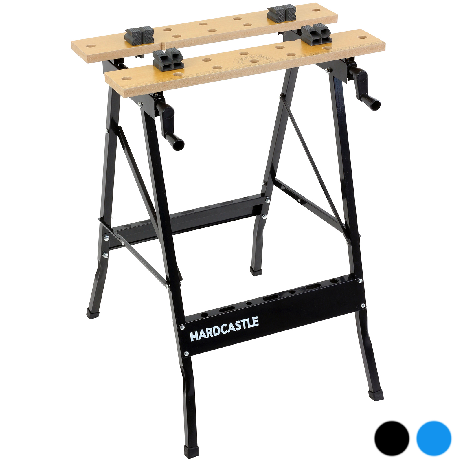 Hardcastle Folding Trestle Work Bench Stand Mate Foldable Table Clamp Workbench Ebay