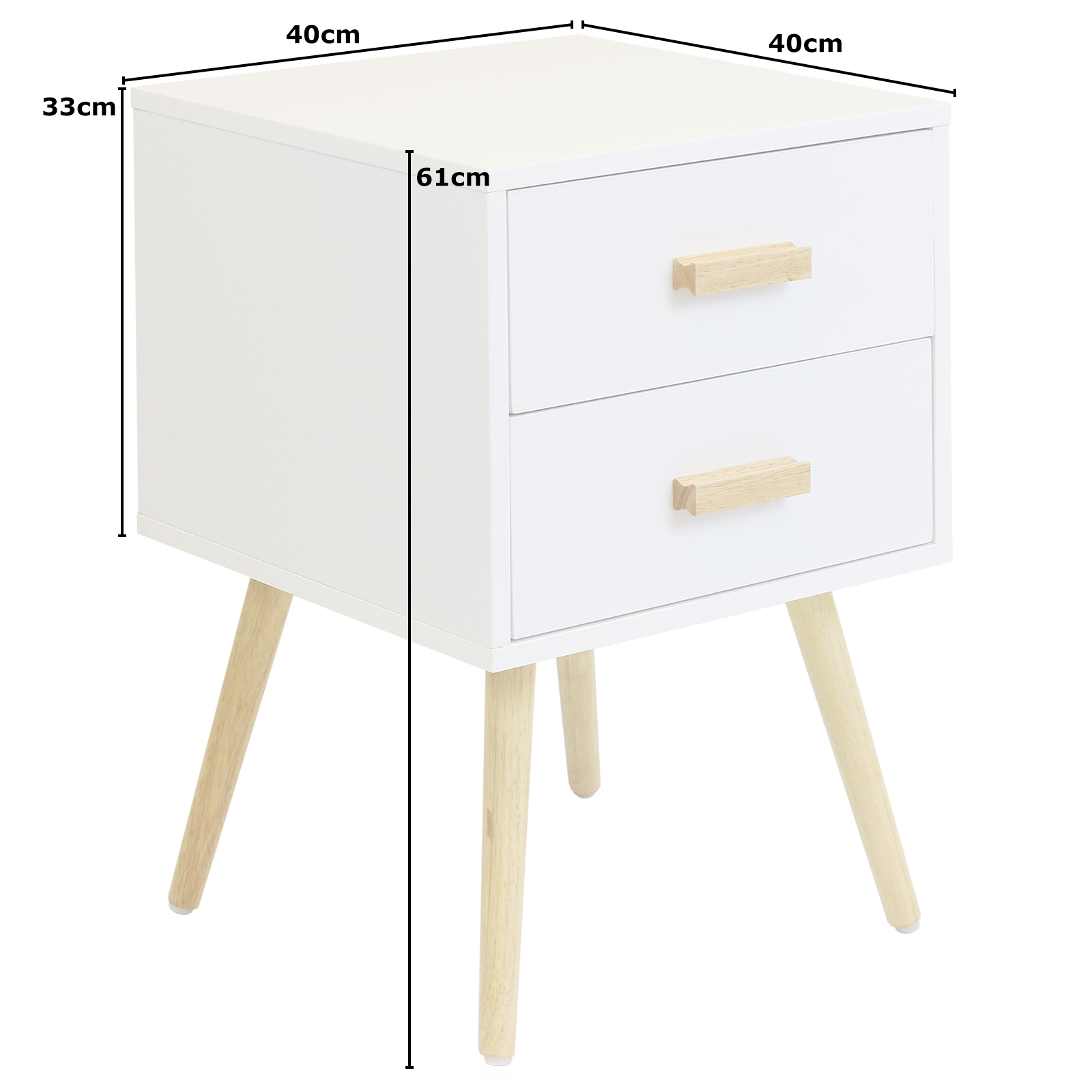 White Bedside Table hartleys 2 drawer white bedside table wood legs scandinavian retro