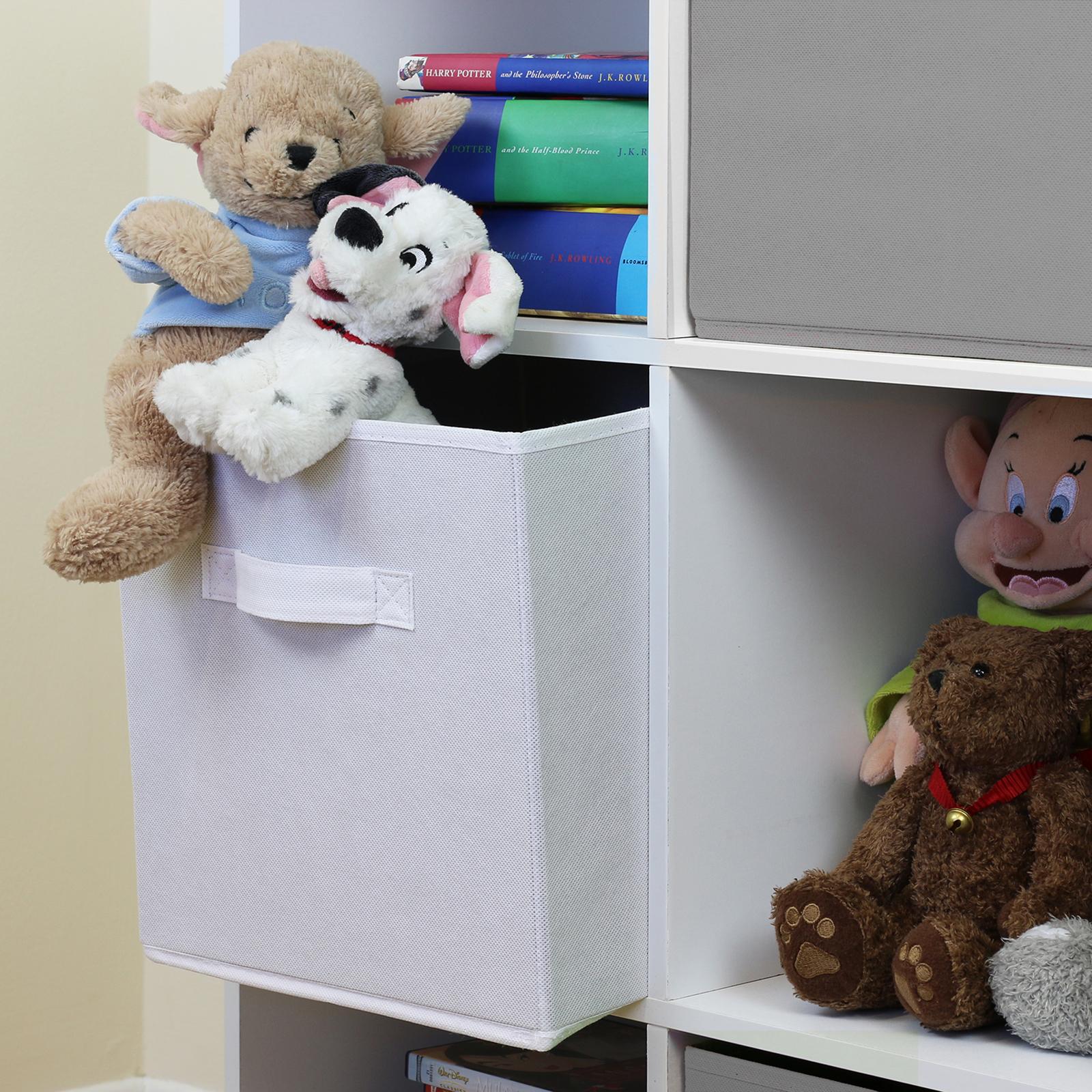 White 6 Cube Kids Toy Games Storage Unit Girls Boys: 9 Cube Kids Grey & White Toy/Games Storage Unit Girls/Boys