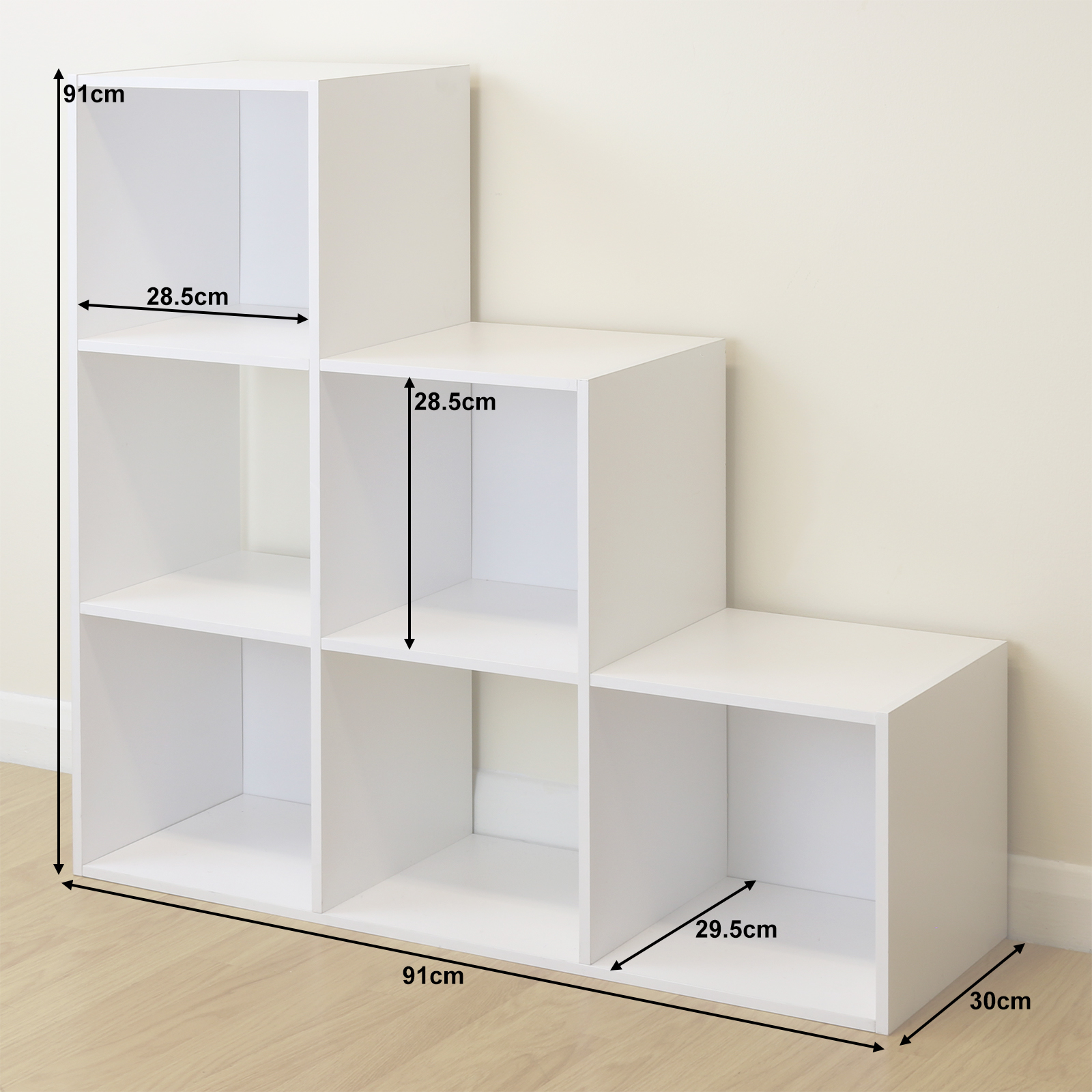 Exceptionnel Sentinel 6 Cube Kids White Toy/Games Storage Unit Girls/Boys/Childs Bedroom  Shelves