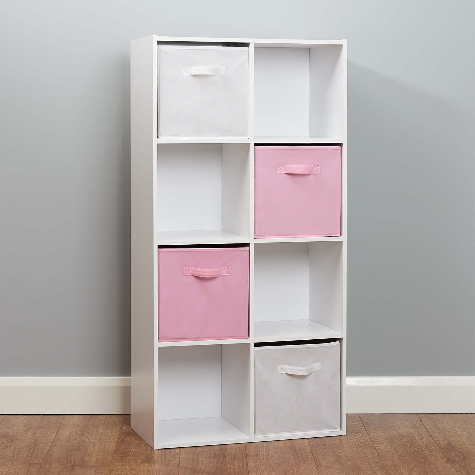 Black 6 Cube Kids Toy Games Storage Unit Girls Boys: 8 Cube Storage Unit White/Pink Boxes Childrens/Kids