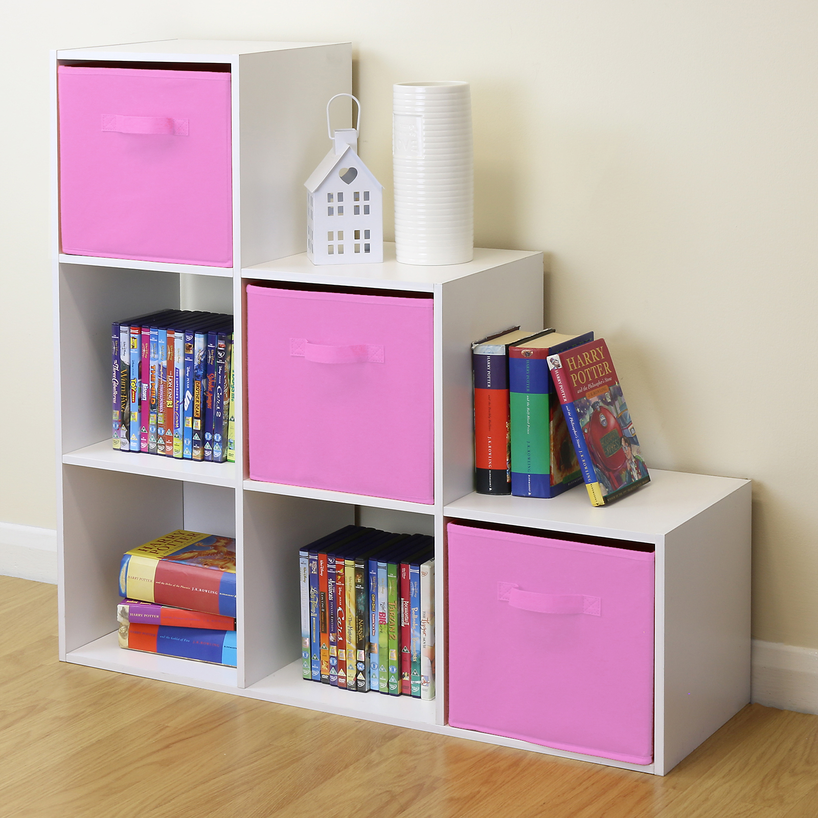 Details About White 6 Cube Kids Toy Storage Unit S Boys Bedroom Shelves 3 Pink Bo