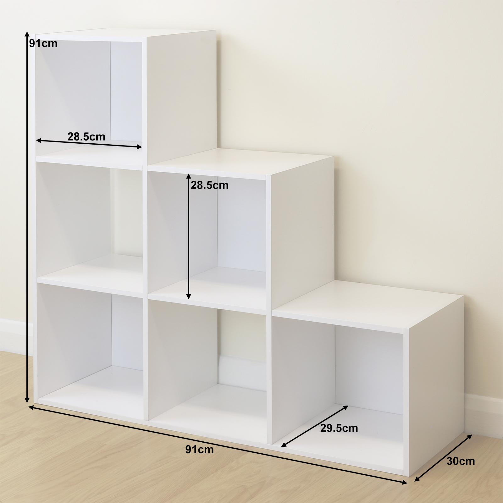 New Bookcase Toy Box White Finish Bedroom Playroom Child: White 6 Cube Kids Toy/Games Storage Unit Girls/Boys