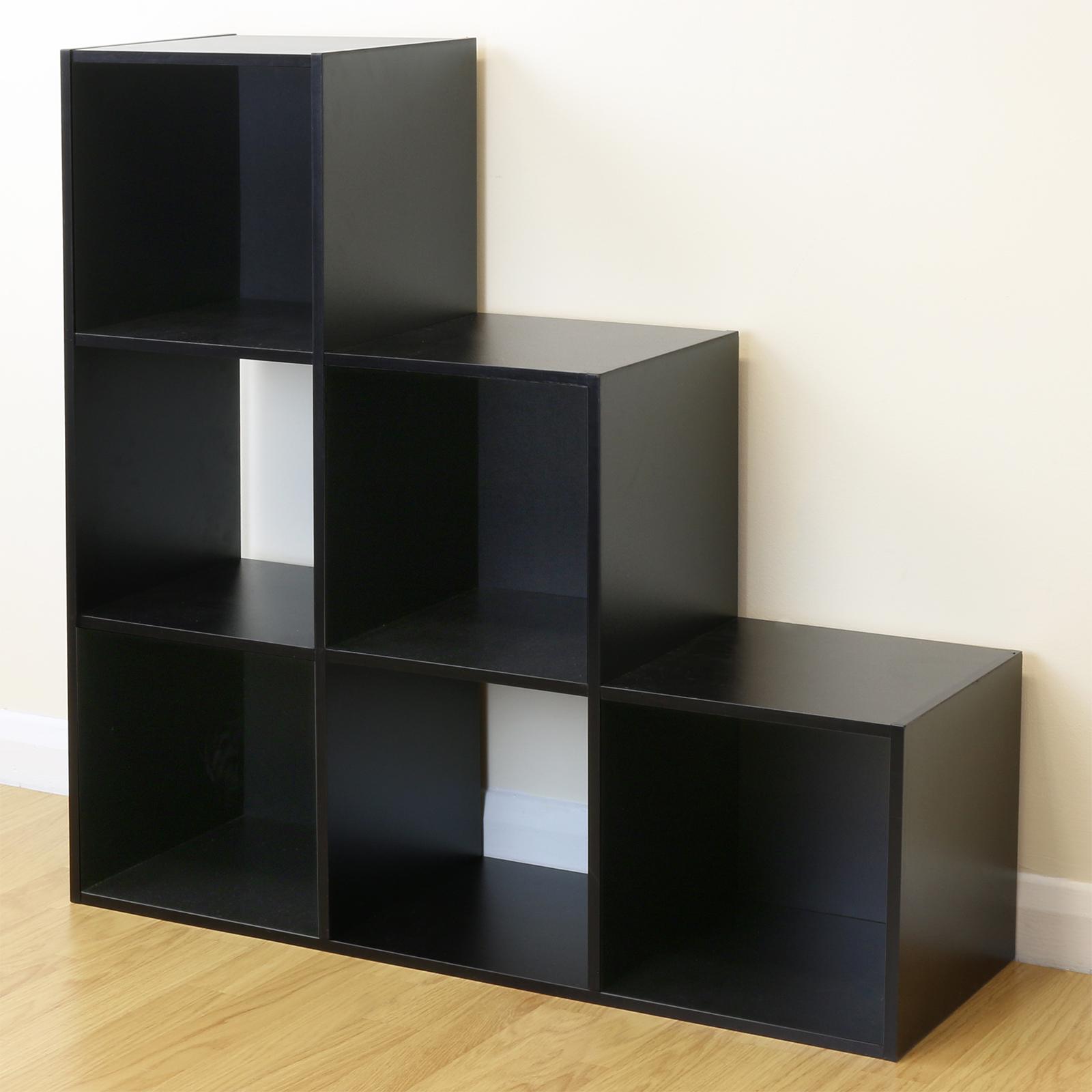 White 6 Cube Kids Toy Games Storage Unit Girls Boys: Black 6 Cube Kids Toy/Games Storage Unit Girls/Boys