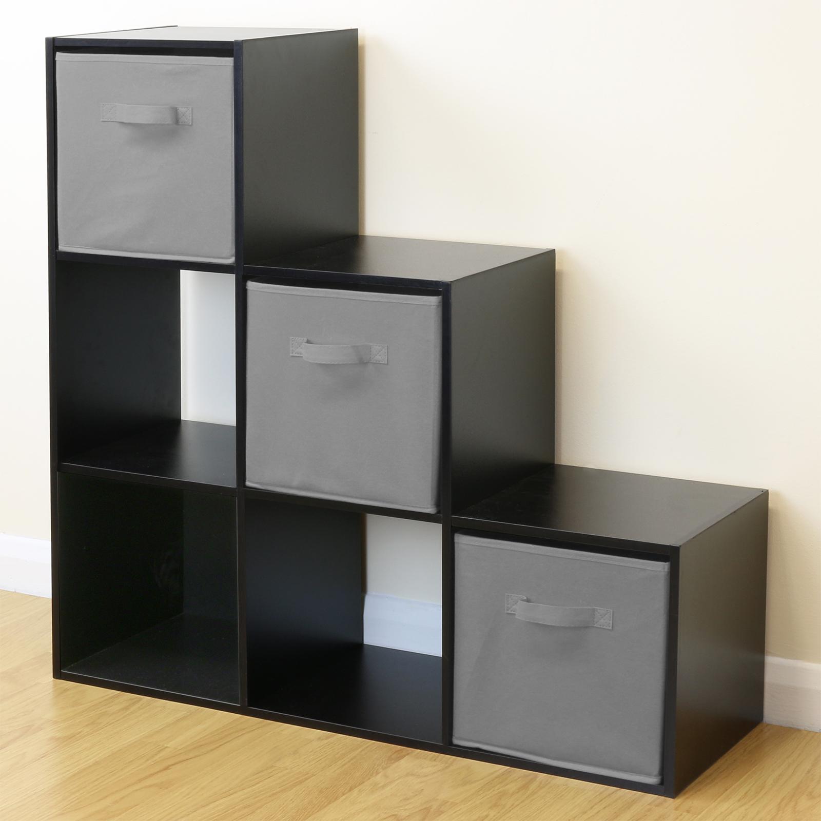 Kids Storage Cube Organizer Toy Box Kids Bedroom Furniture: Black 6 Cube Kids Toy/Games Storage Unit Girls/Boys