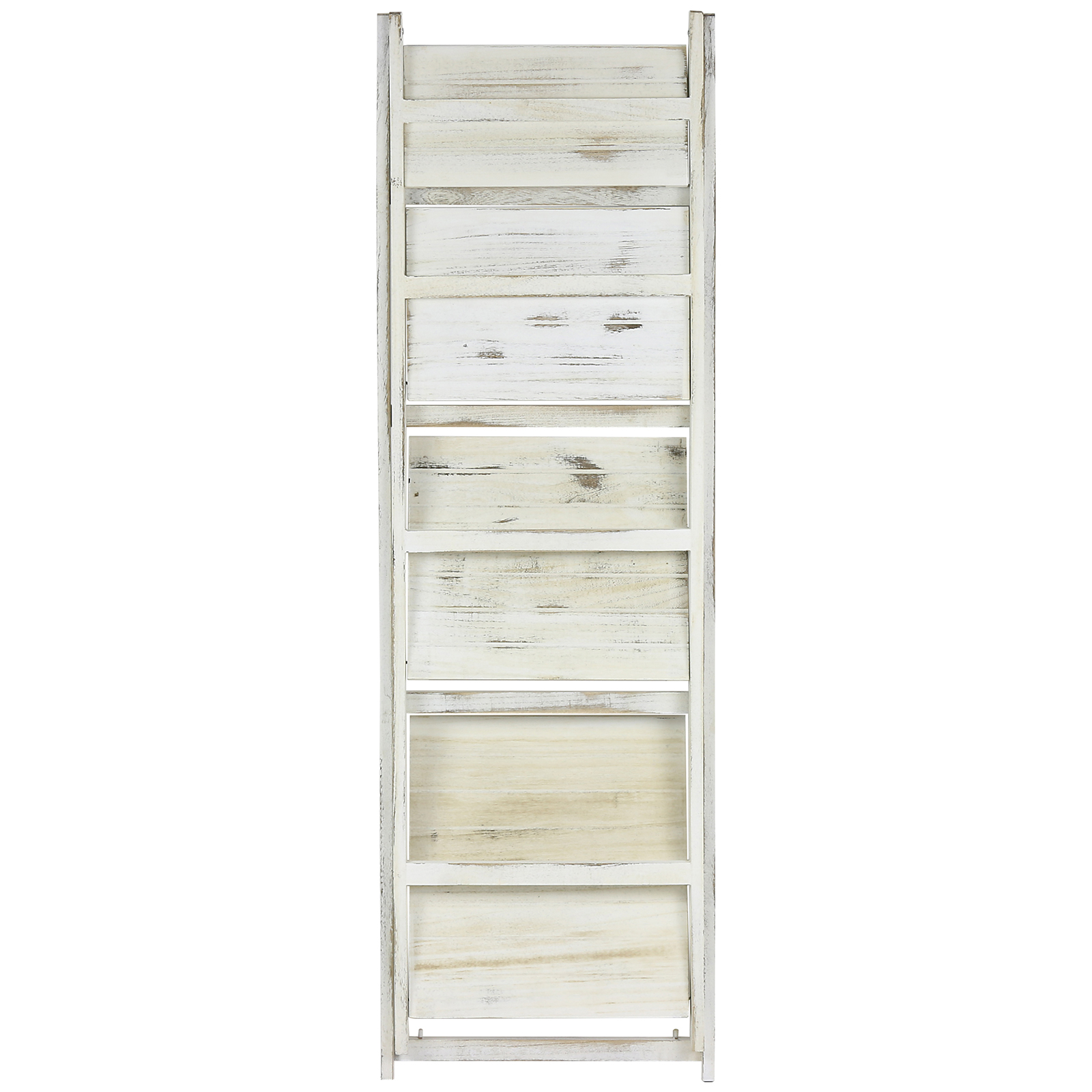 HARTLEYS WHITE 4 TIER FOLDING LADDER STORAGE HOME DISPLAY SHELF