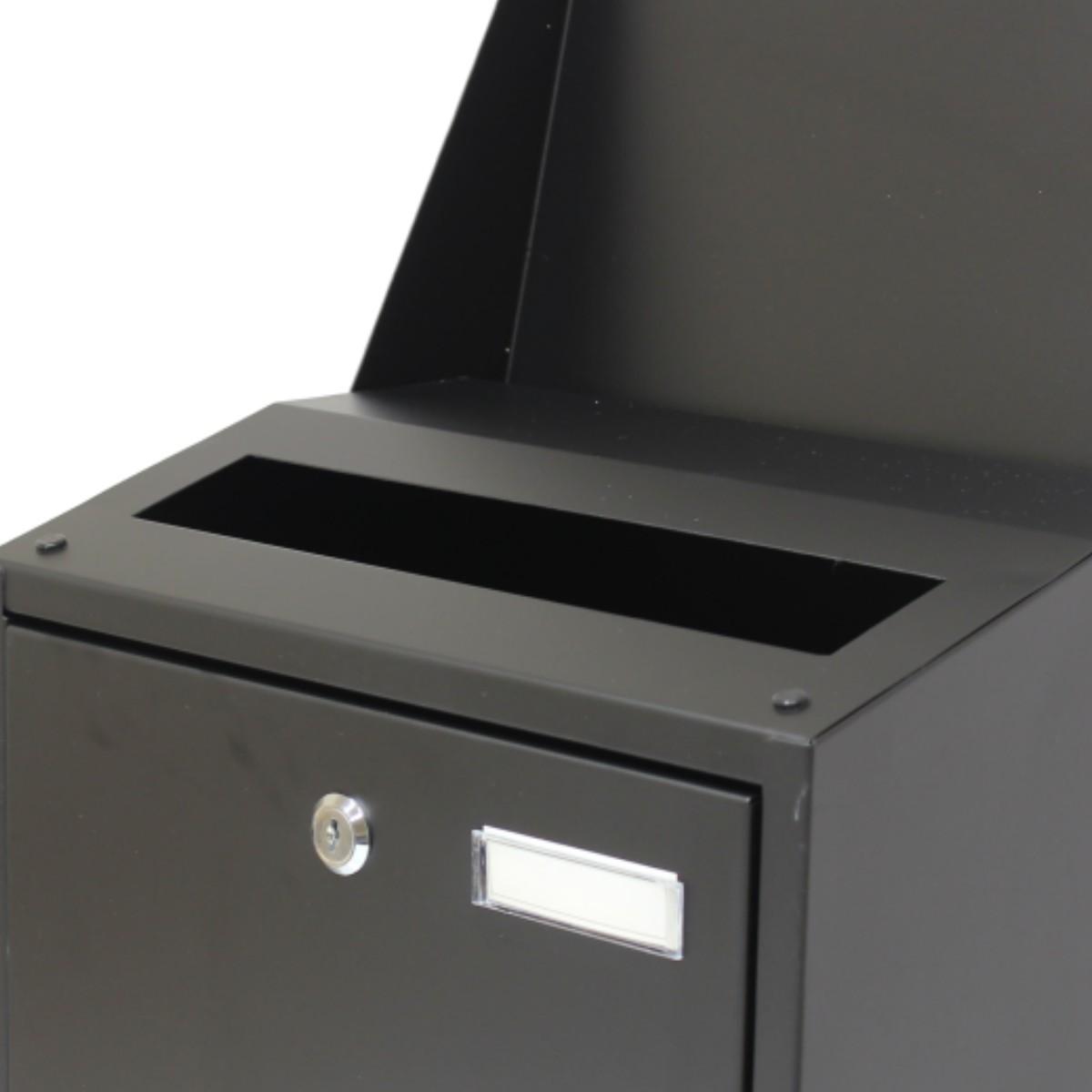 Schön Hardcastle Briefkasten aus Stahl zur Wandbefestigung - Extra Groß  ZX45