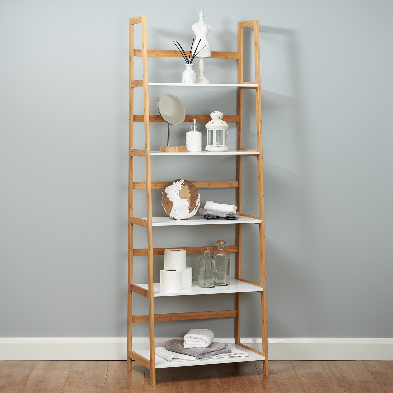 newest collection b3e9b c7126 Details about 5 Tier Freestanding Tall 1.8M White Bookcase/Bookshelf Modern  Storage Shelves