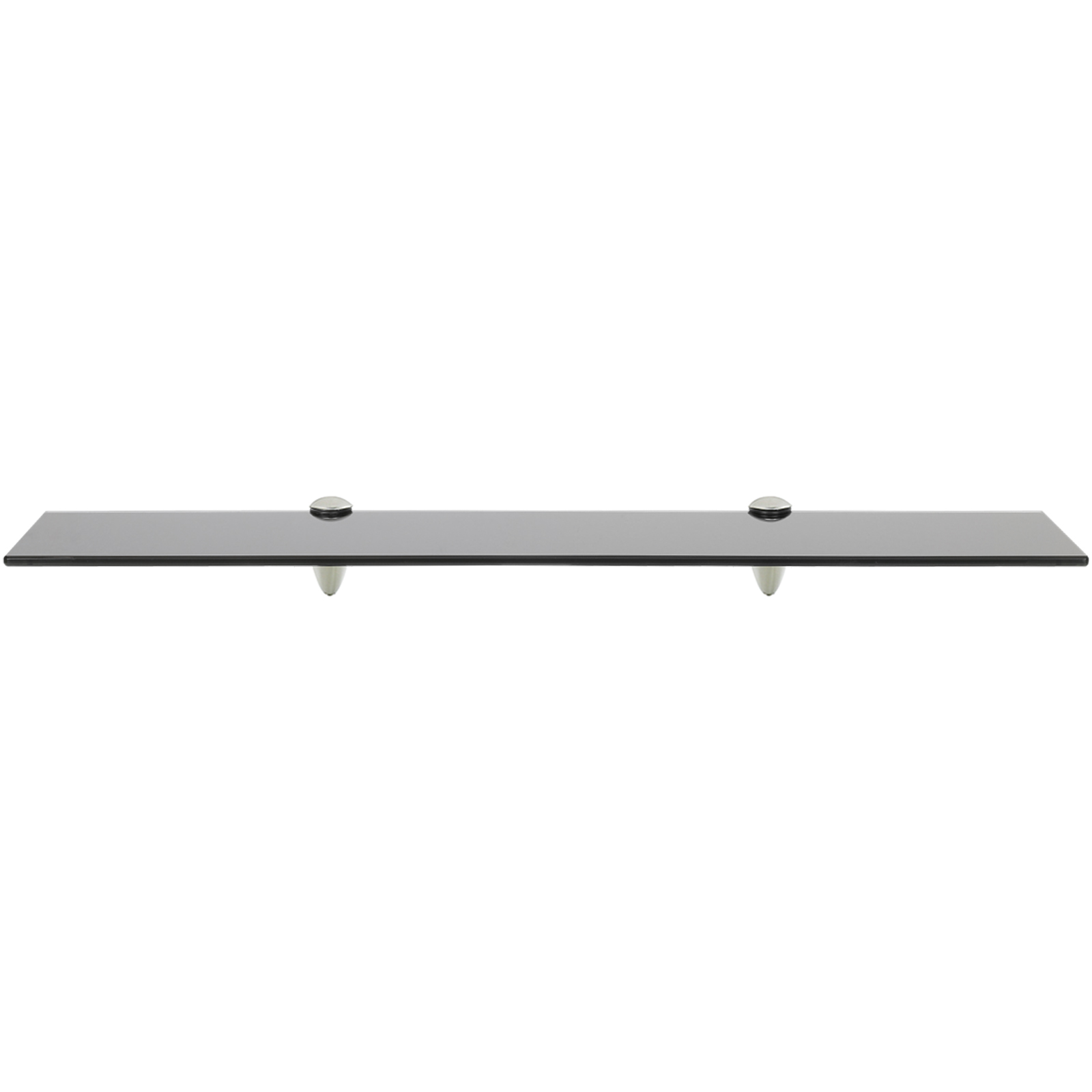 HARTLEYS-BLACK-GLASS-FLOATING-WALL-MOUNTED-SHELF-CHROME-FIXINGS-BATHROOM-DISPLAY thumbnail 10