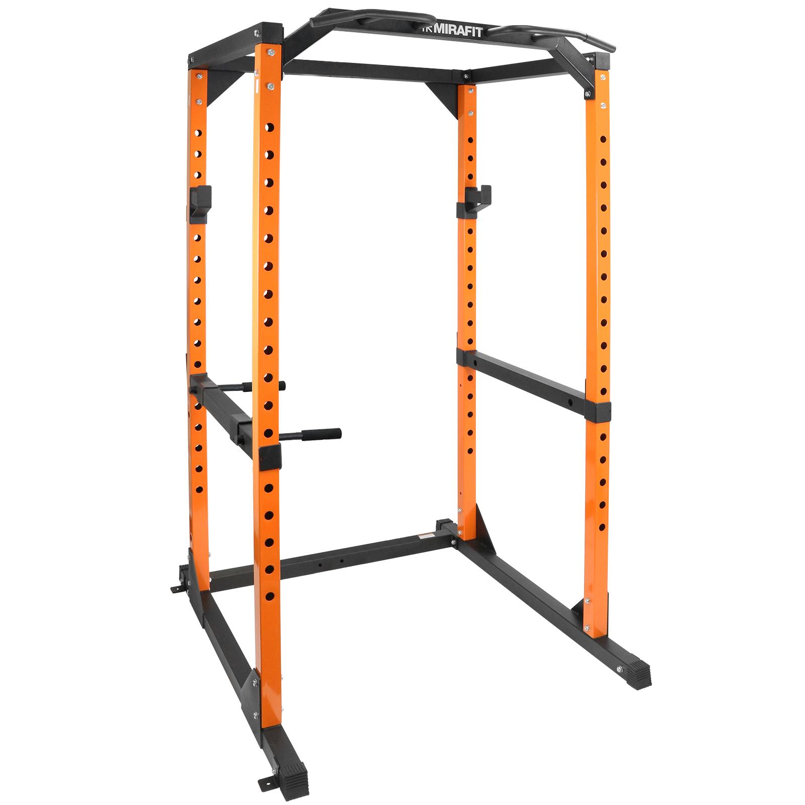 Mirafit M2 Power Cage Squat Rack/Pull Up/Dip Bar Weight Lifting ...