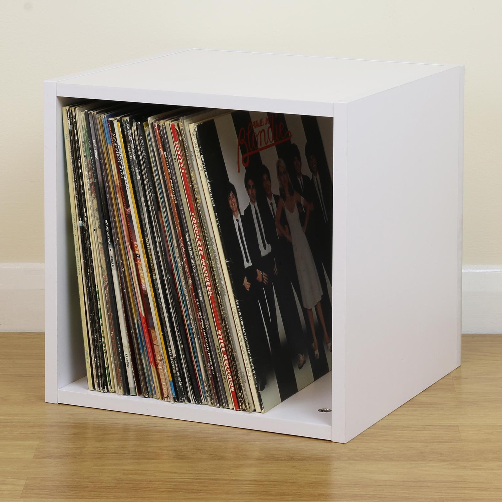 lp storage furniture. Sentinel White Square LP/Vinyl Music Record Storage Cube/Cabinet Box Home Display Unit Lp Furniture