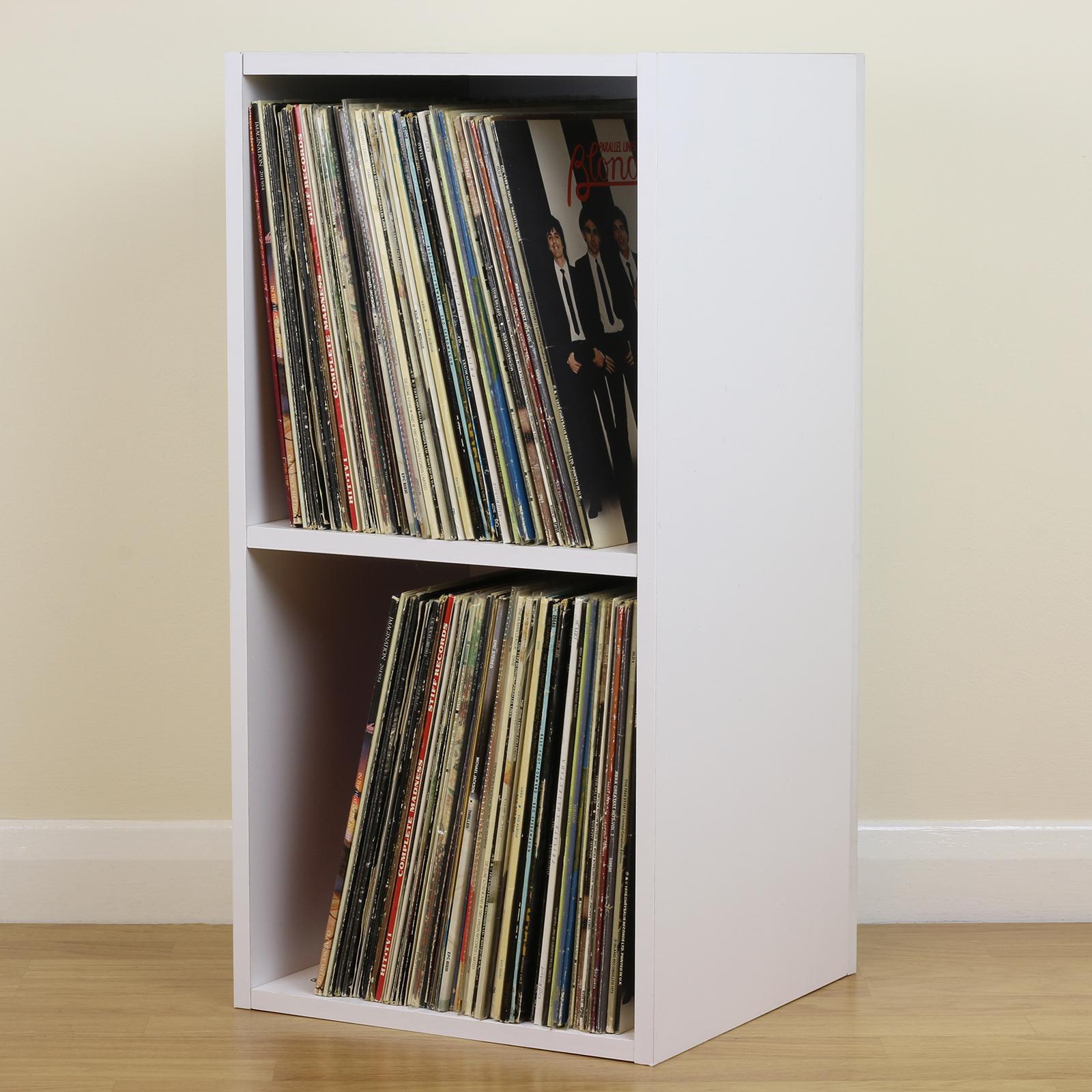 lp storage furniture. Sentinel Large White Square LP/Vinyl Music Record Storage Cube/Cabinet Home Display Unit Lp Furniture