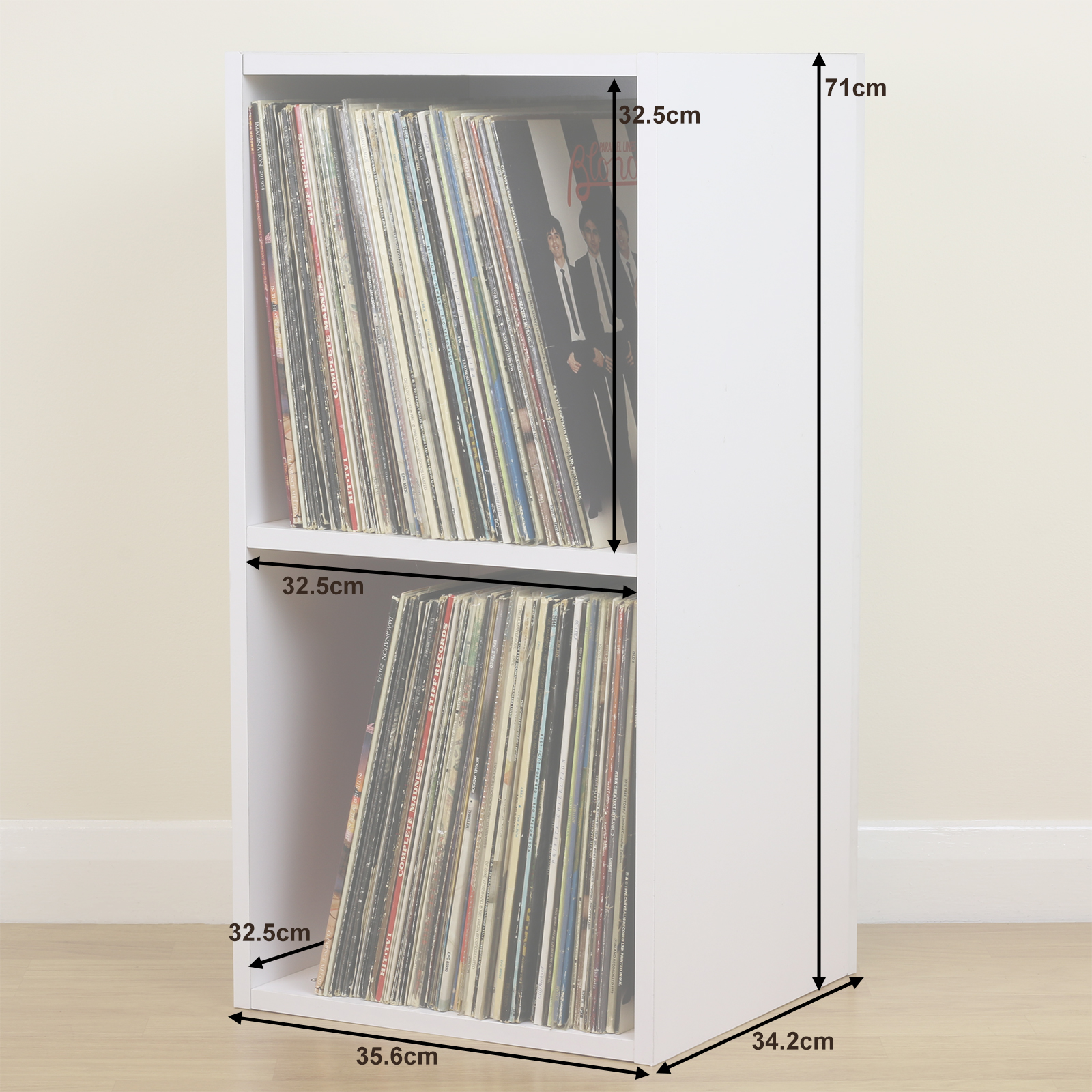 Large White Square Lp Vinyl Music Record Storage Cube