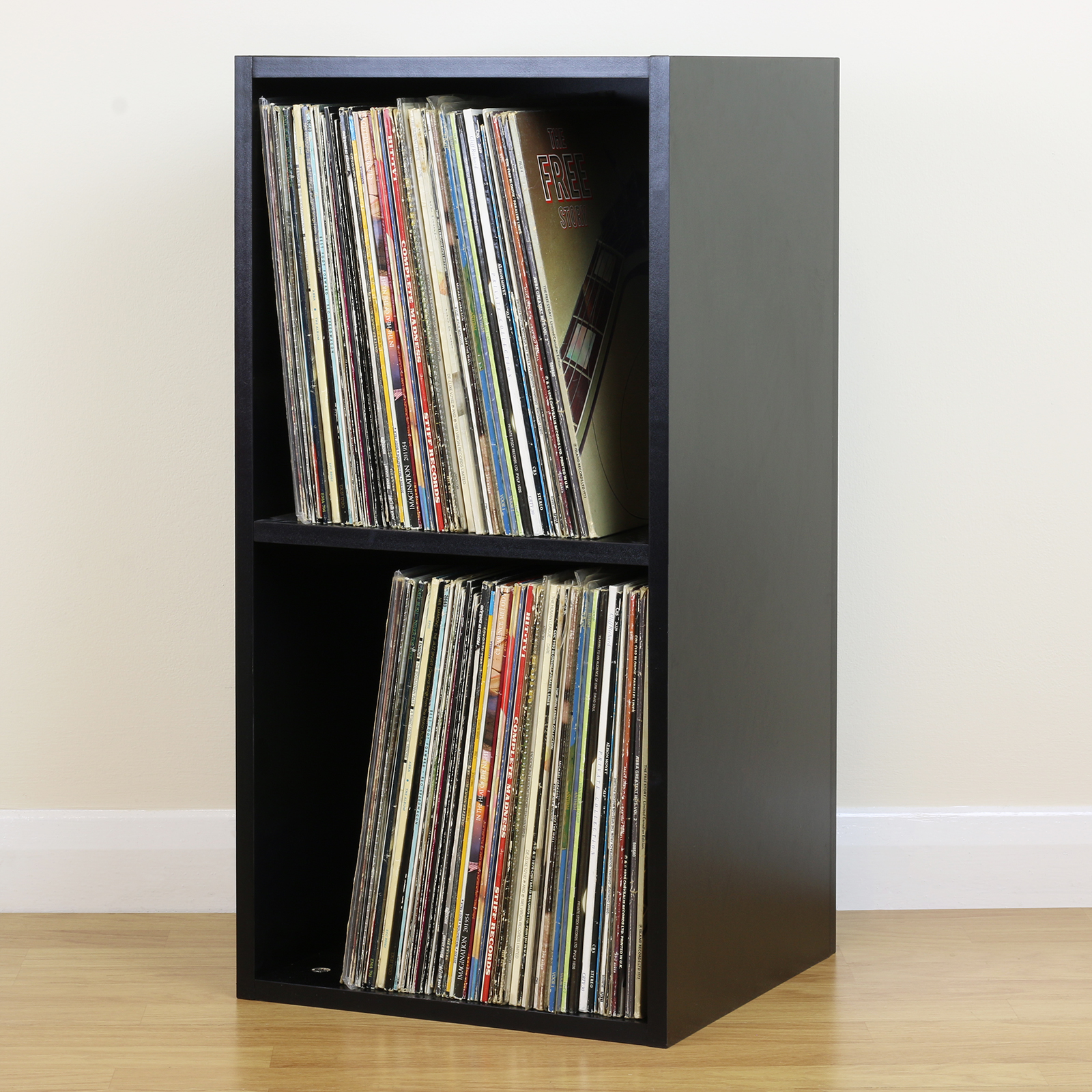 Sentinel Large Black Square LP/Vinyl Music Record Storage Cube/Cabinet Home  Display Unit