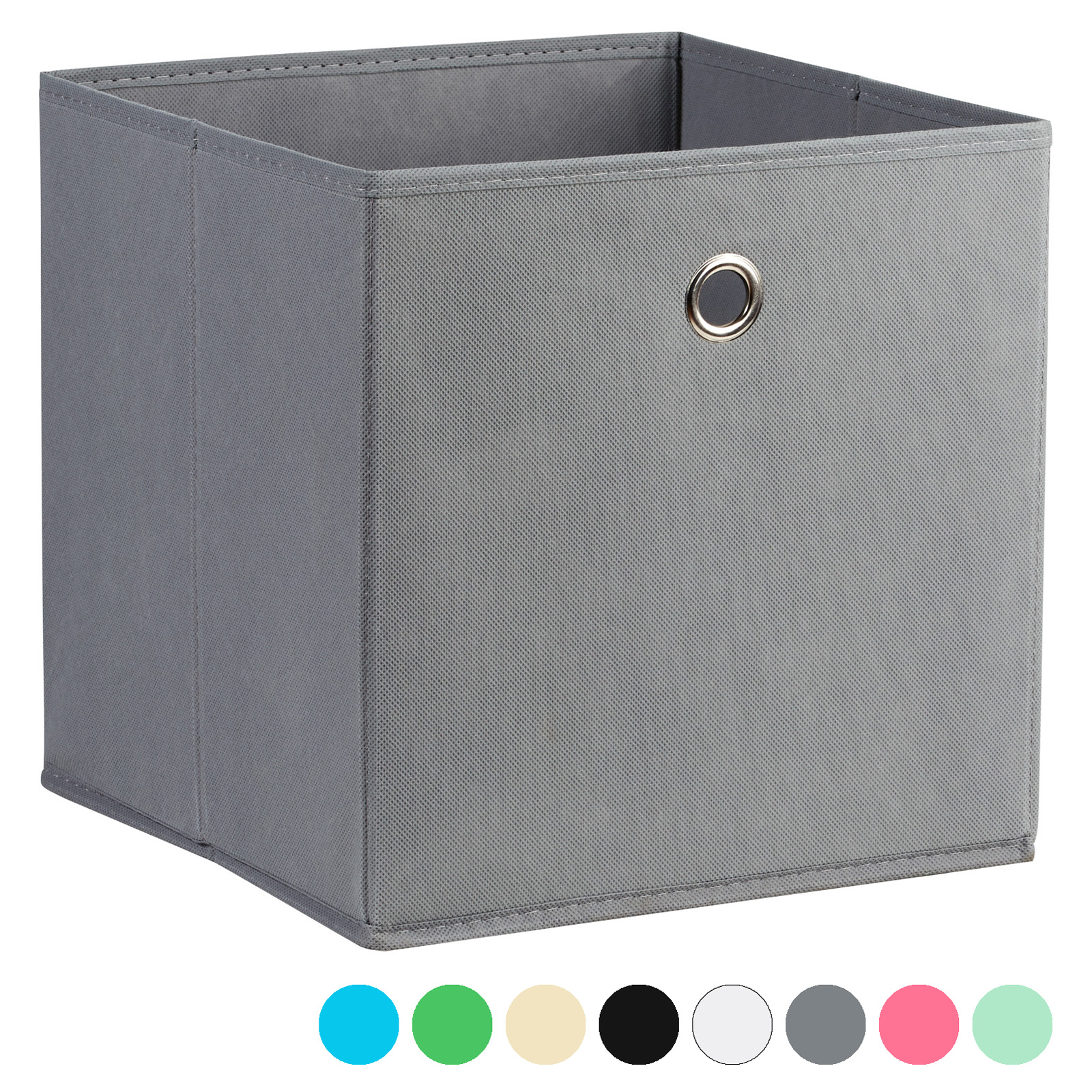 Ordinaire Details About HARTLEYS SQUARE FOLDABLE FABRIC/CANVAS STORAGE BOX CUBE  SHELF/DRAWER ORGANISER