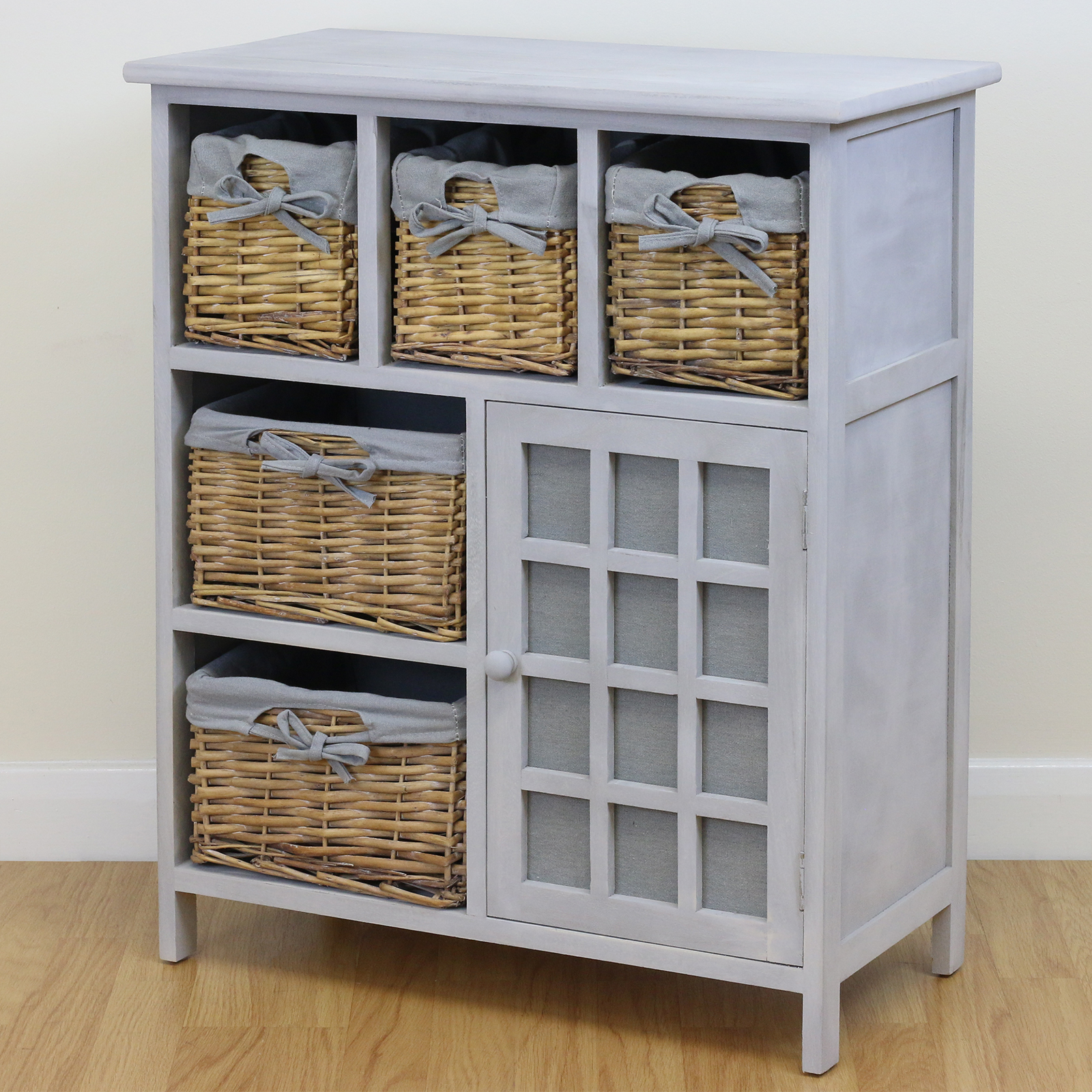 light grey 5 drawer hallway bedroom storage unit sideboard 19923 | fur043wc3