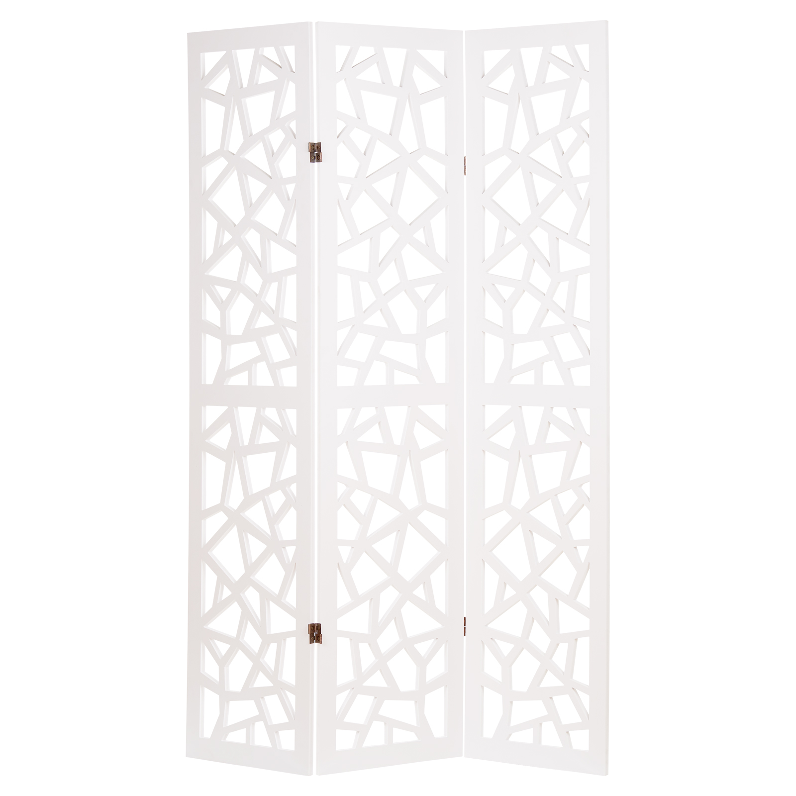 Details About Hartleys White 3 Panel Cut Out Pattern Room Divider Separator Parion Screen